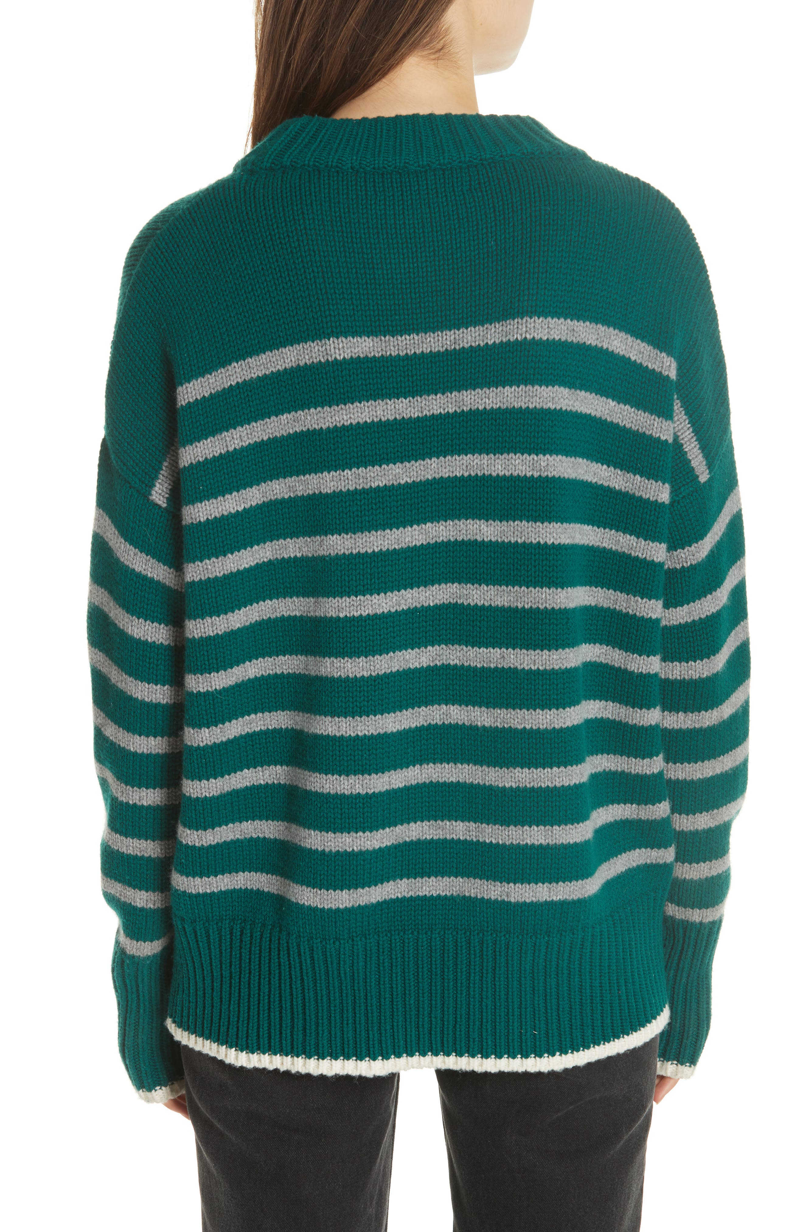 Marin Wool & Cashmere Sweater,                             Alternate thumbnail 2, color,                             FOREST GREEN/ GREY MARLE