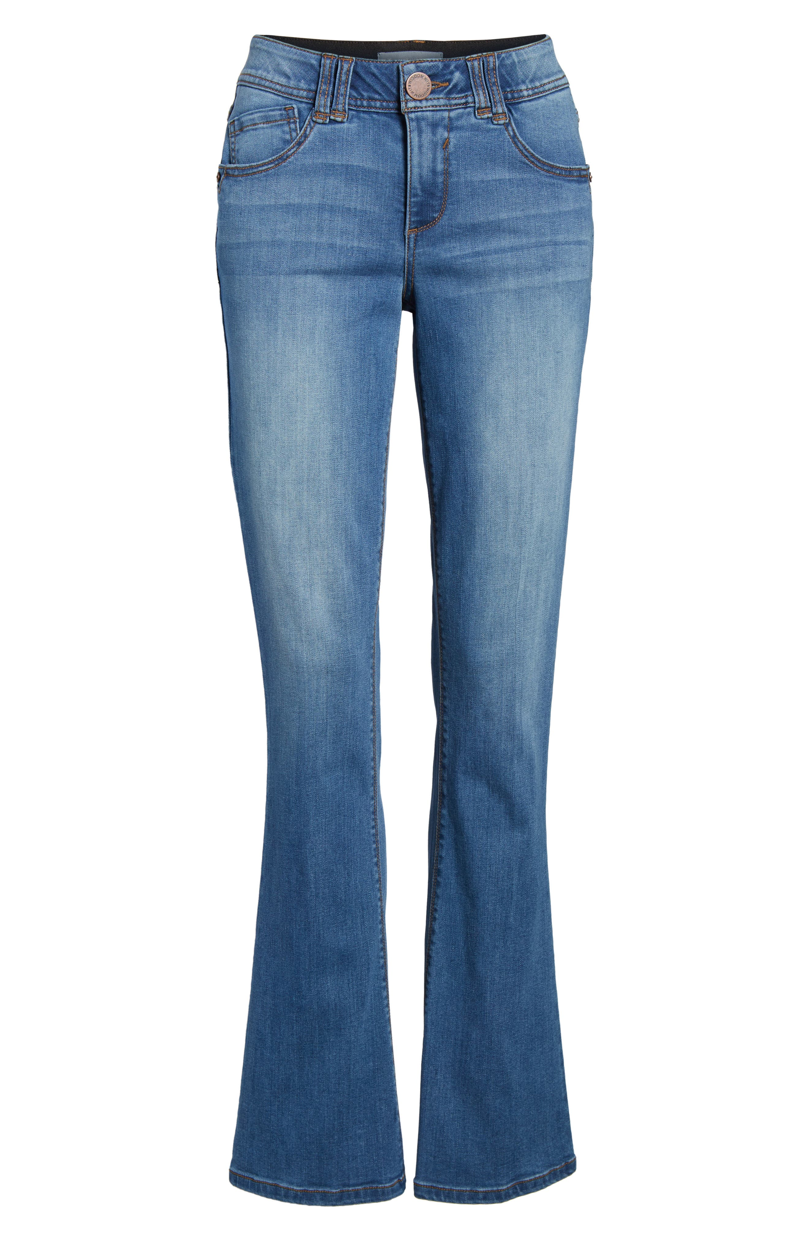 WIT & WISDOM,                             Ab-solution Itty Bitty Bootcut Jeans,                             Alternate thumbnail 7, color,                             LIGHT BLUE