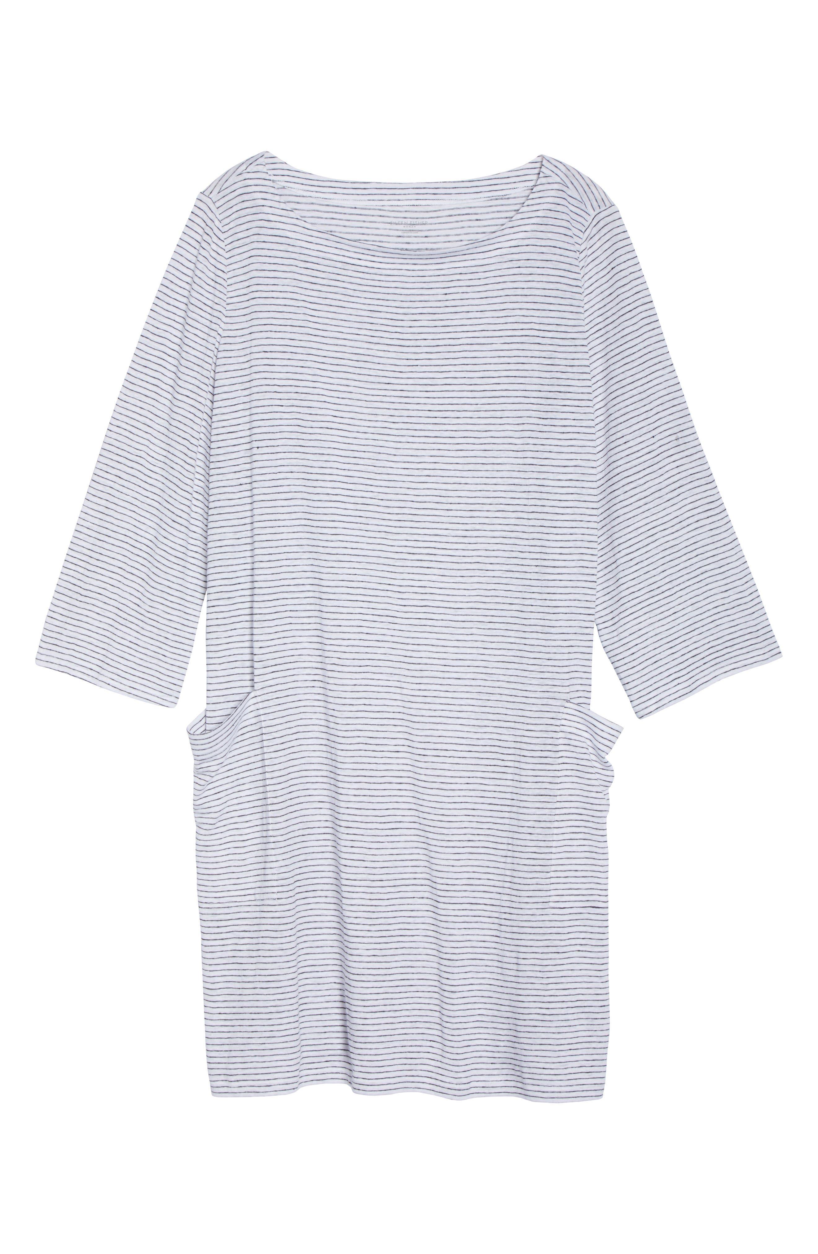 Organic Linen Shift Dress,                             Alternate thumbnail 6, color,                             120