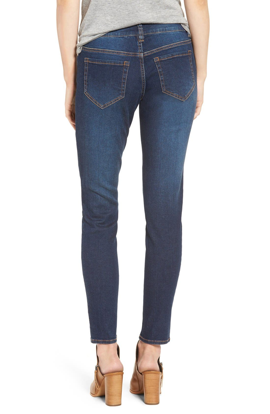 Mid Rise Skinny Jeans,                             Alternate thumbnail 3, color,                             420
