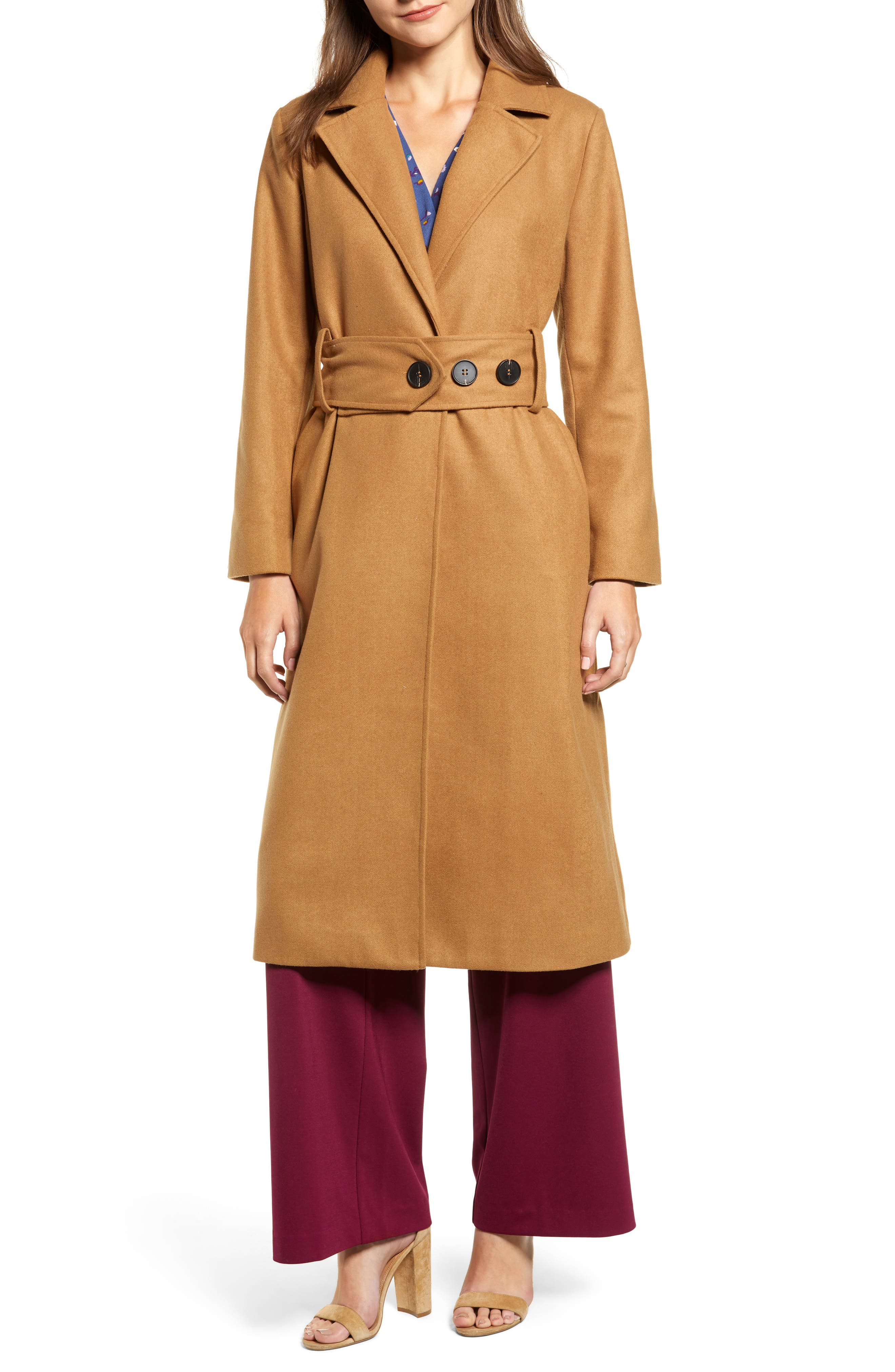 Chriselle Lim Victoria Belted Coat,                             Main thumbnail 1, color,                             CAMEL