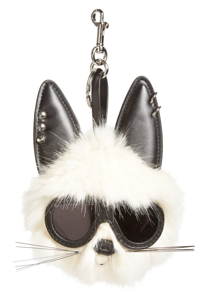 12faa8492c44 Stella McCartney Rabbit Faux Fur Bag Charm