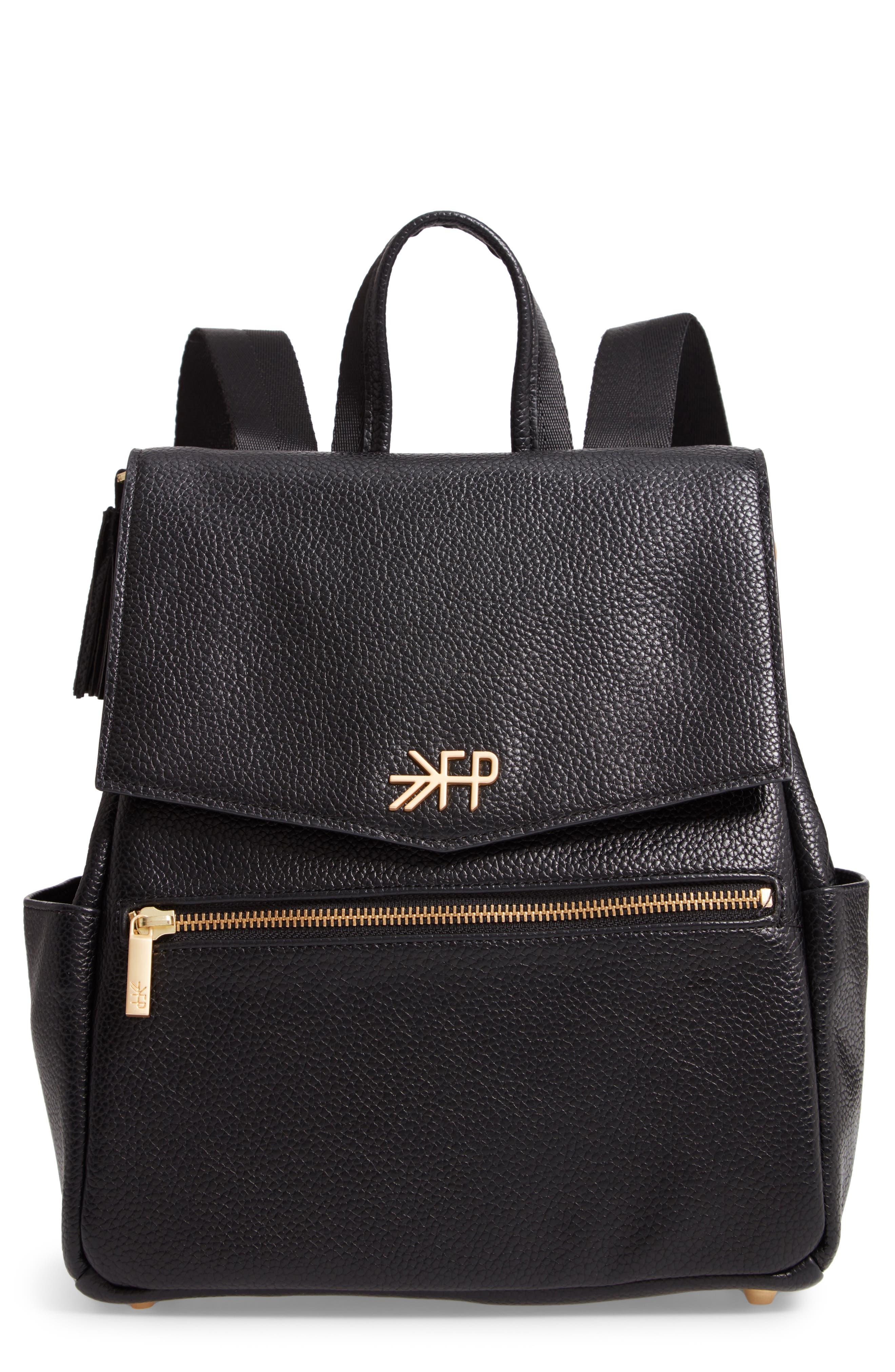 Mini Convertible Diaper Bag,                         Main,                         color, EBONY