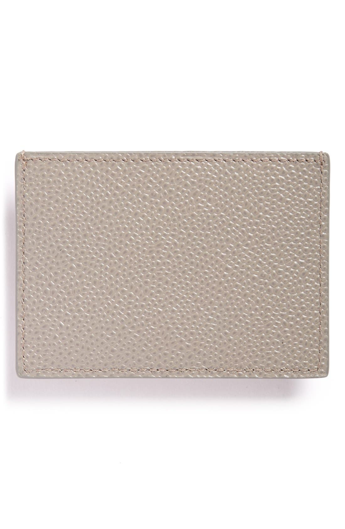 Pebbled Leather Card Case,                         Main,                         color, 035