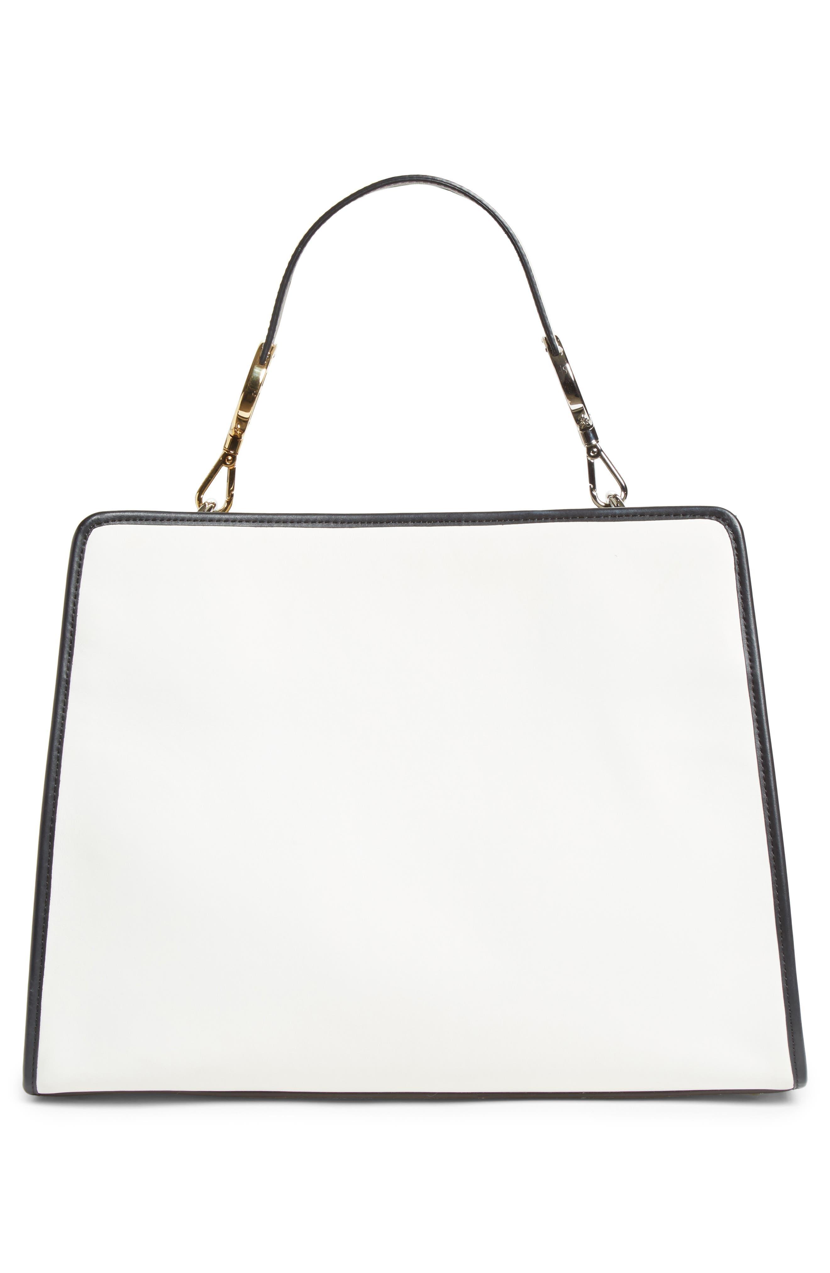 Runaway Medium Leather Tote Bag,                             Alternate thumbnail 3, color,