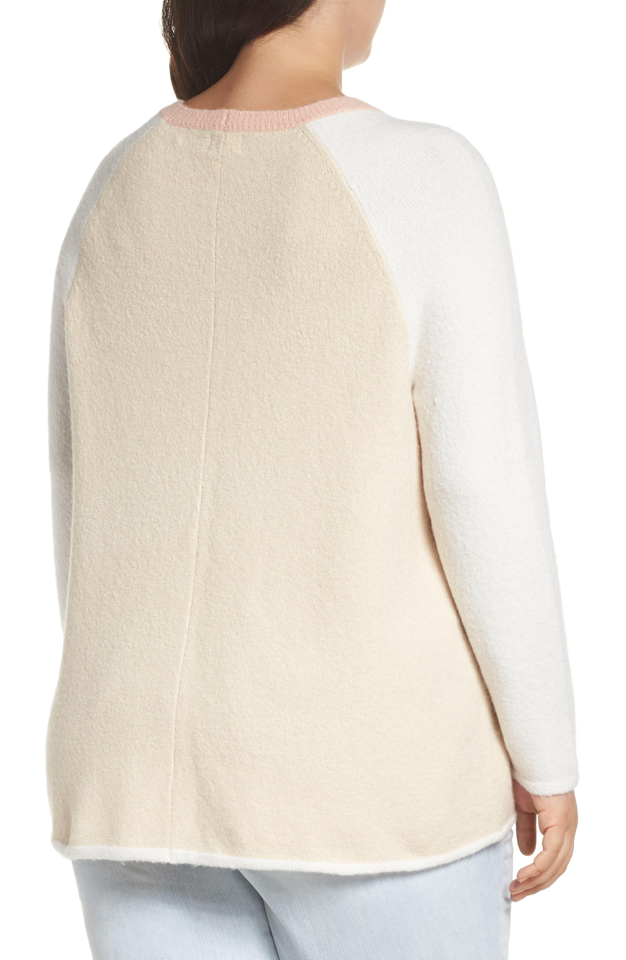 Colorblock Sweater,                             Alternate thumbnail 2, color,                             GREY LT HEATHER CB