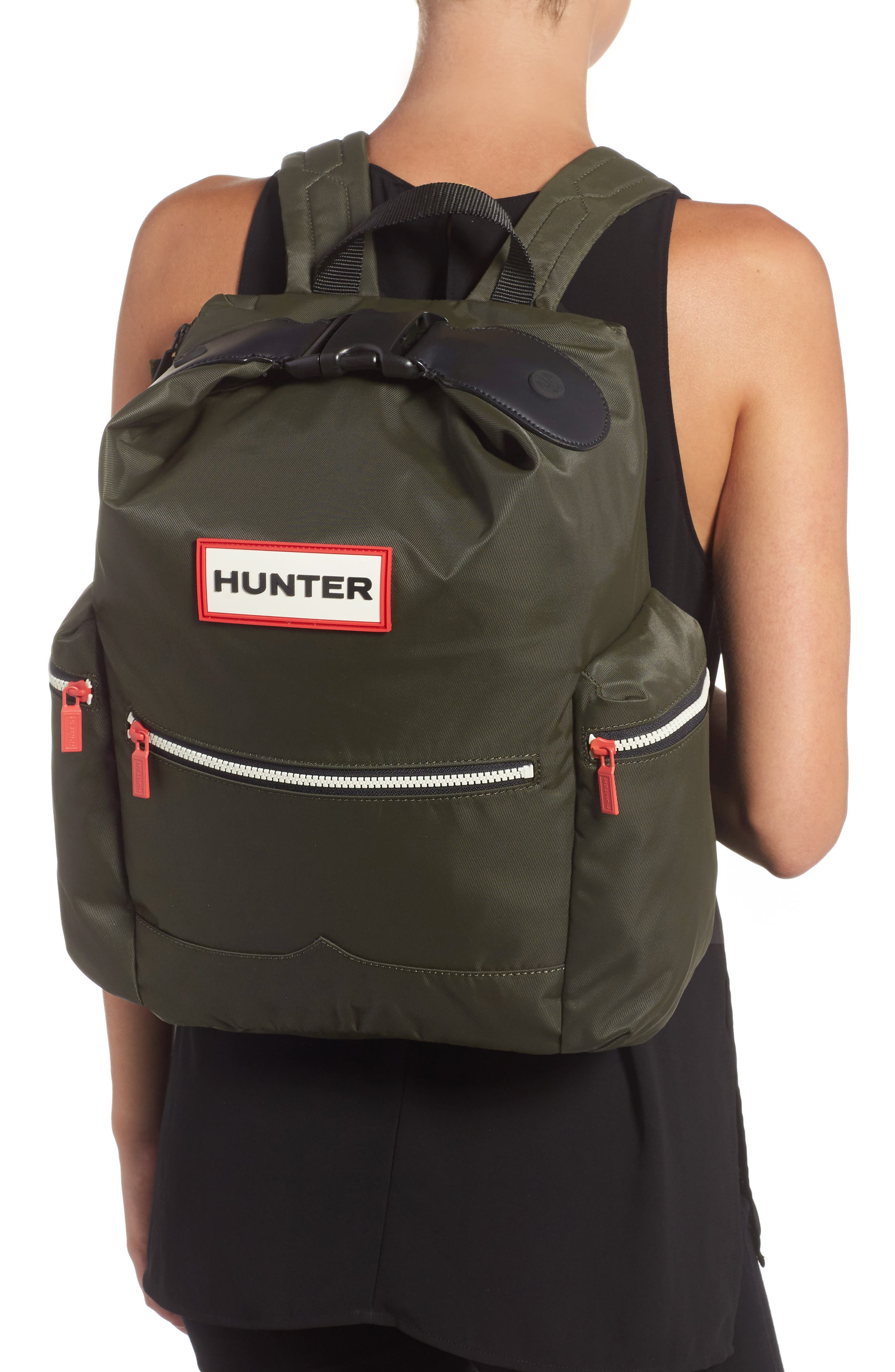 Original Top Clip Nylon Backpack,                             Alternate thumbnail 4, color,