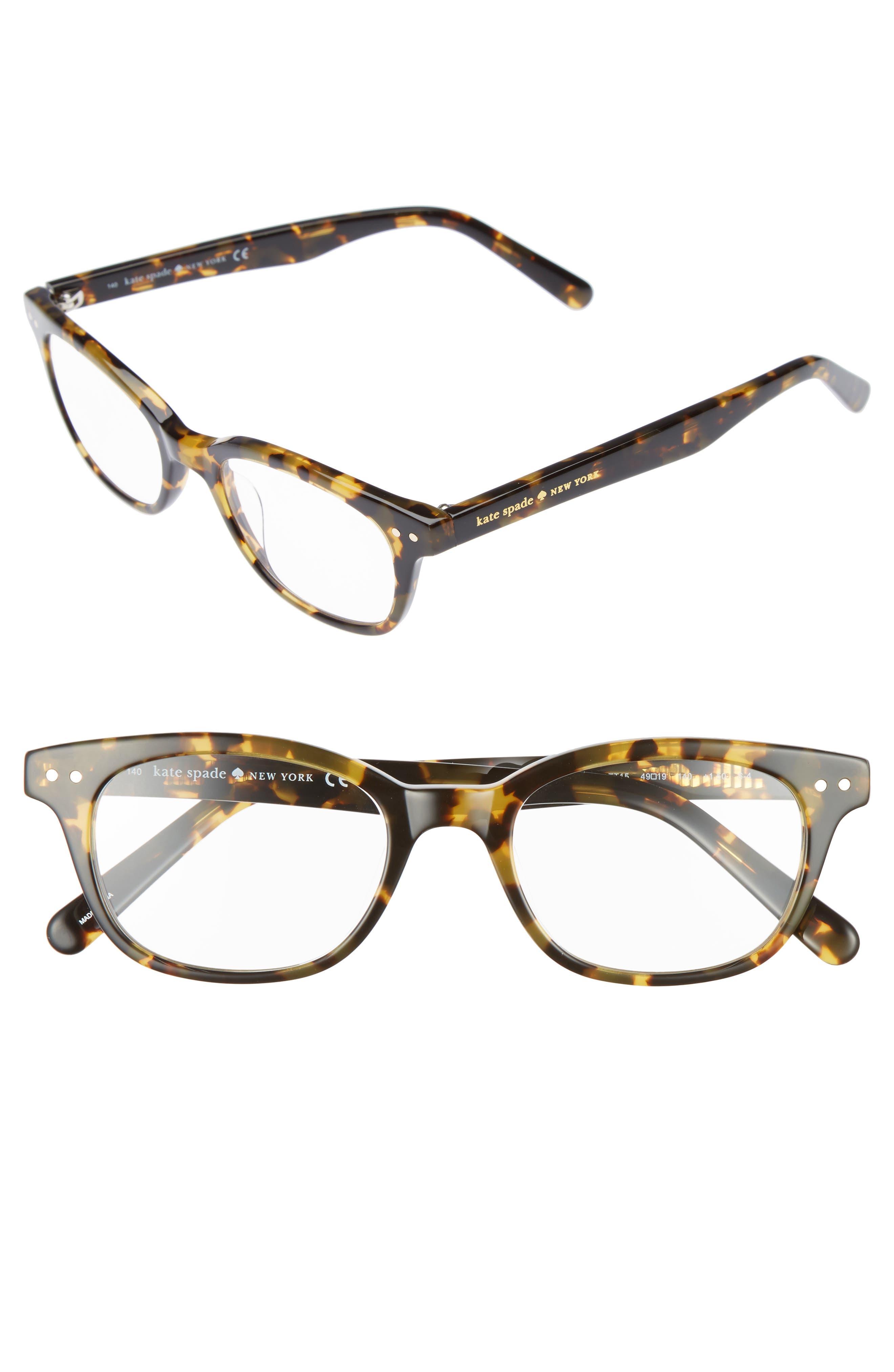 KATE SPADE NEW YORK rebecca 49mm reading glasses, Main, color, TOKYO TORTOISE
