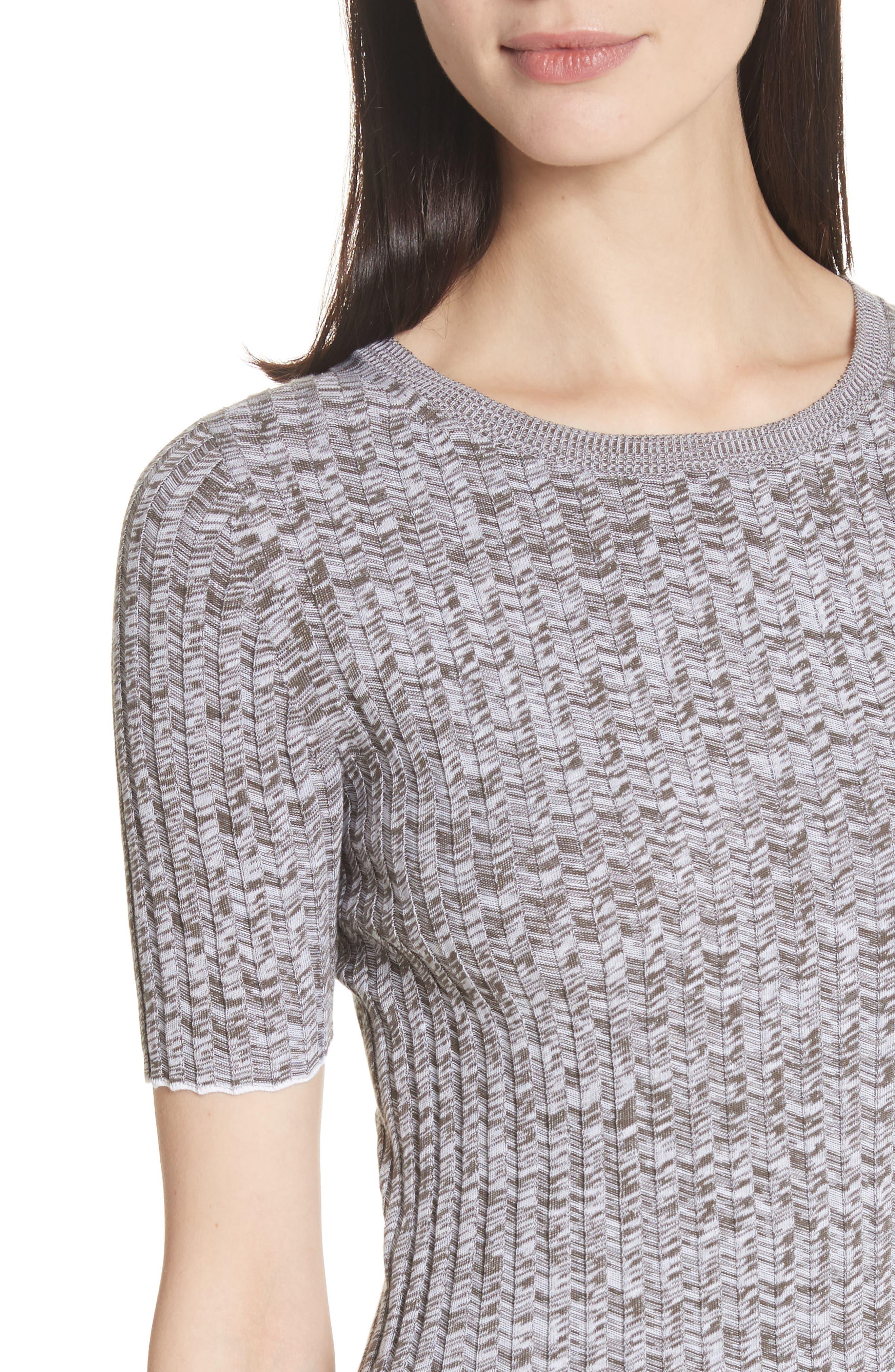 Marled Rib Knit Crewneck Sweater,                             Alternate thumbnail 4, color,                             197