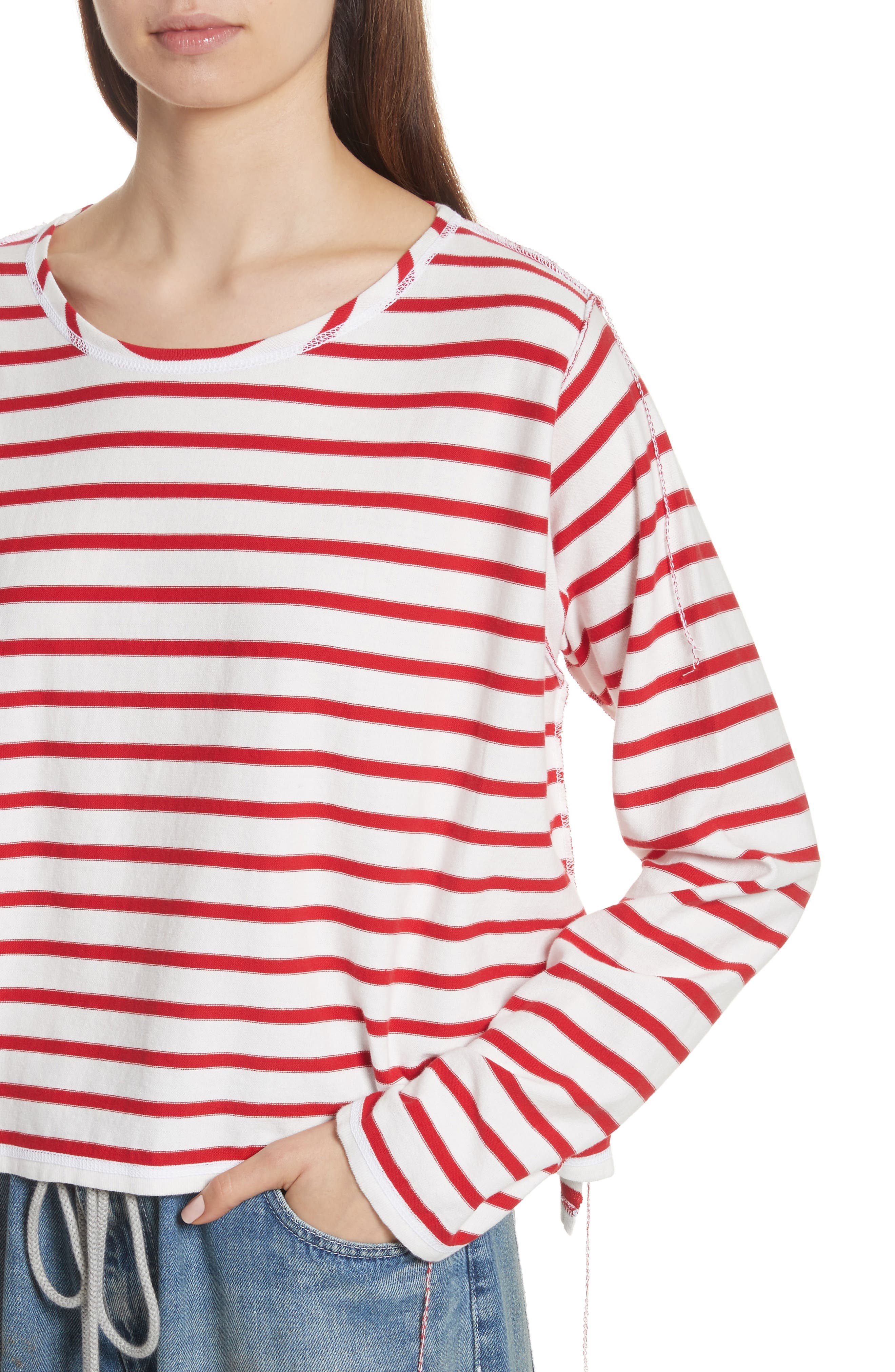 Inside Out Stripe Sweater,                             Alternate thumbnail 4, color,                             600