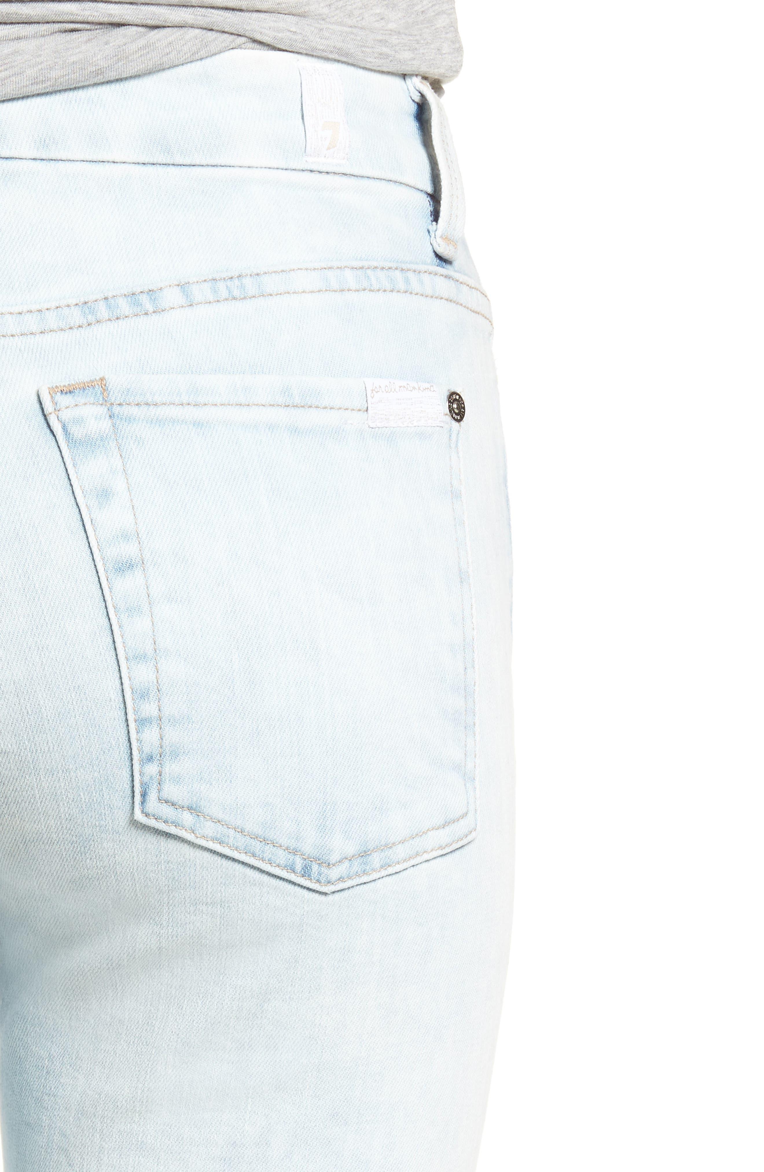 High Waist Ankle Skinny Jeans,                             Alternate thumbnail 4, color,                             401