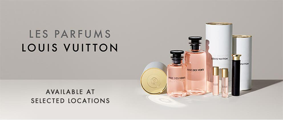 Louis Vuitton perfumes, available at selected locations.