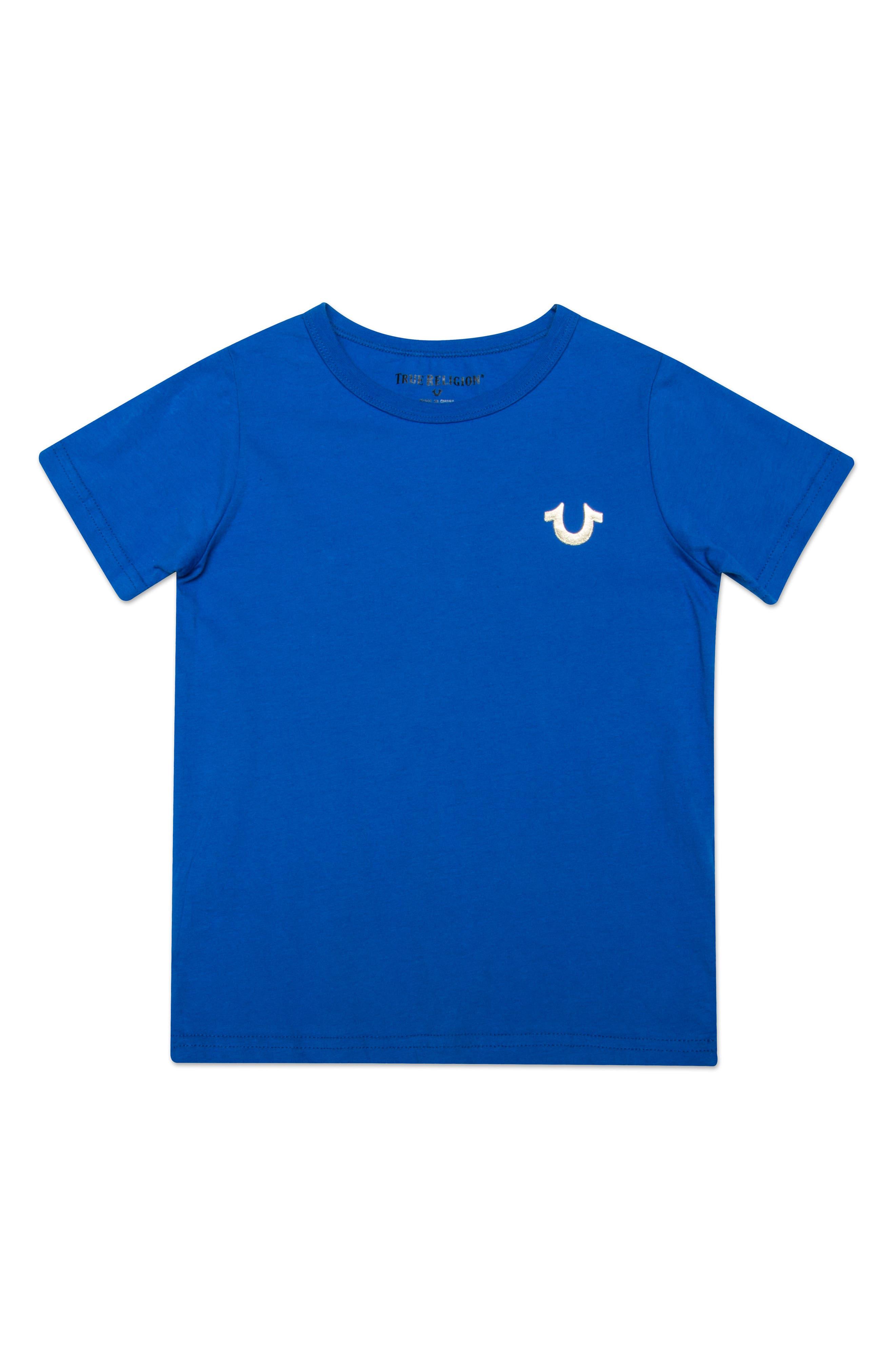 Gold Buddha Logo T-Shirt,                             Main thumbnail 1, color,                             BRIGHT BLUE