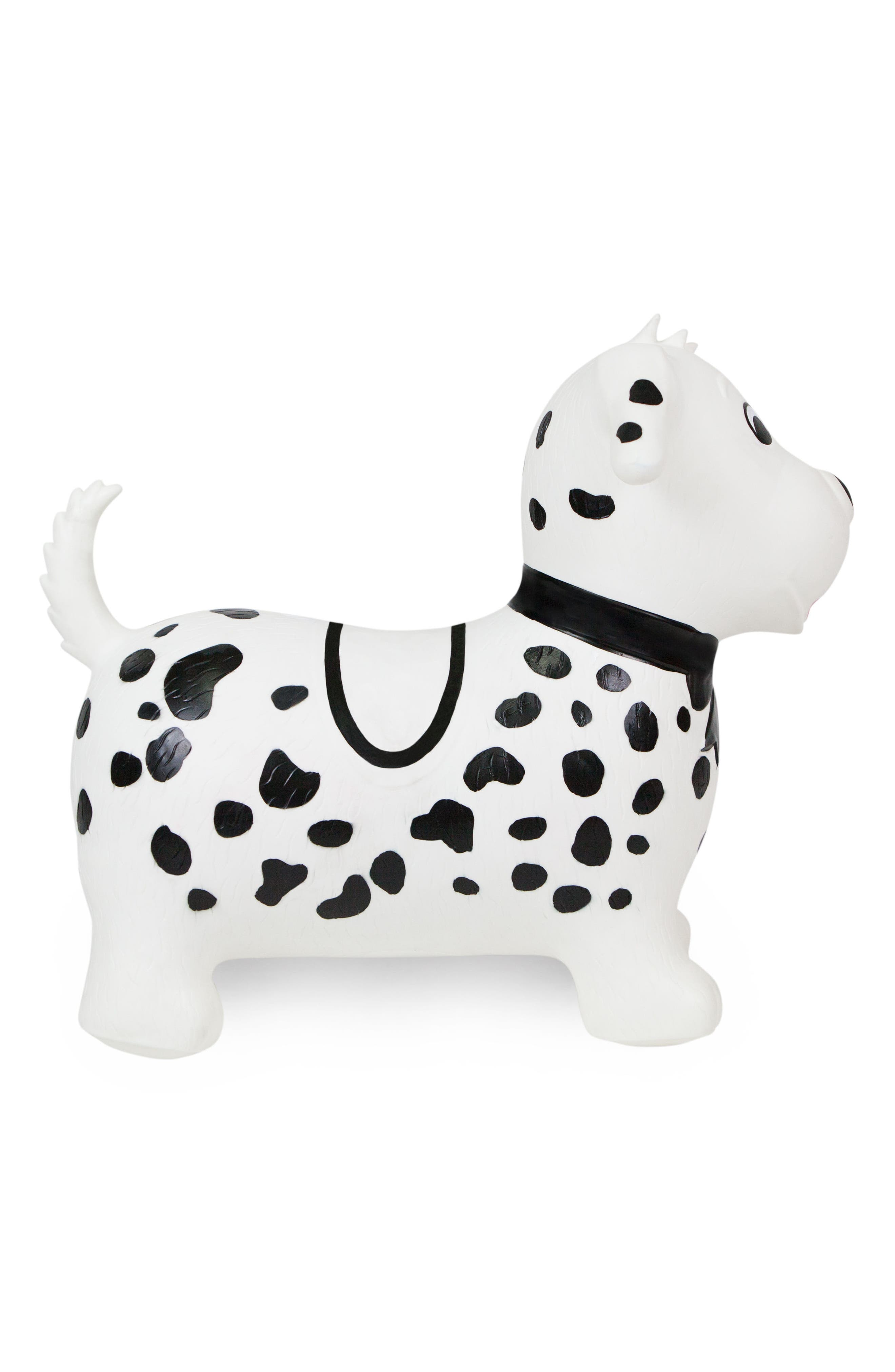 Spots Bouncy Ride-On Dog Toy,                             Alternate thumbnail 2, color,                             WHITE/ BLACK