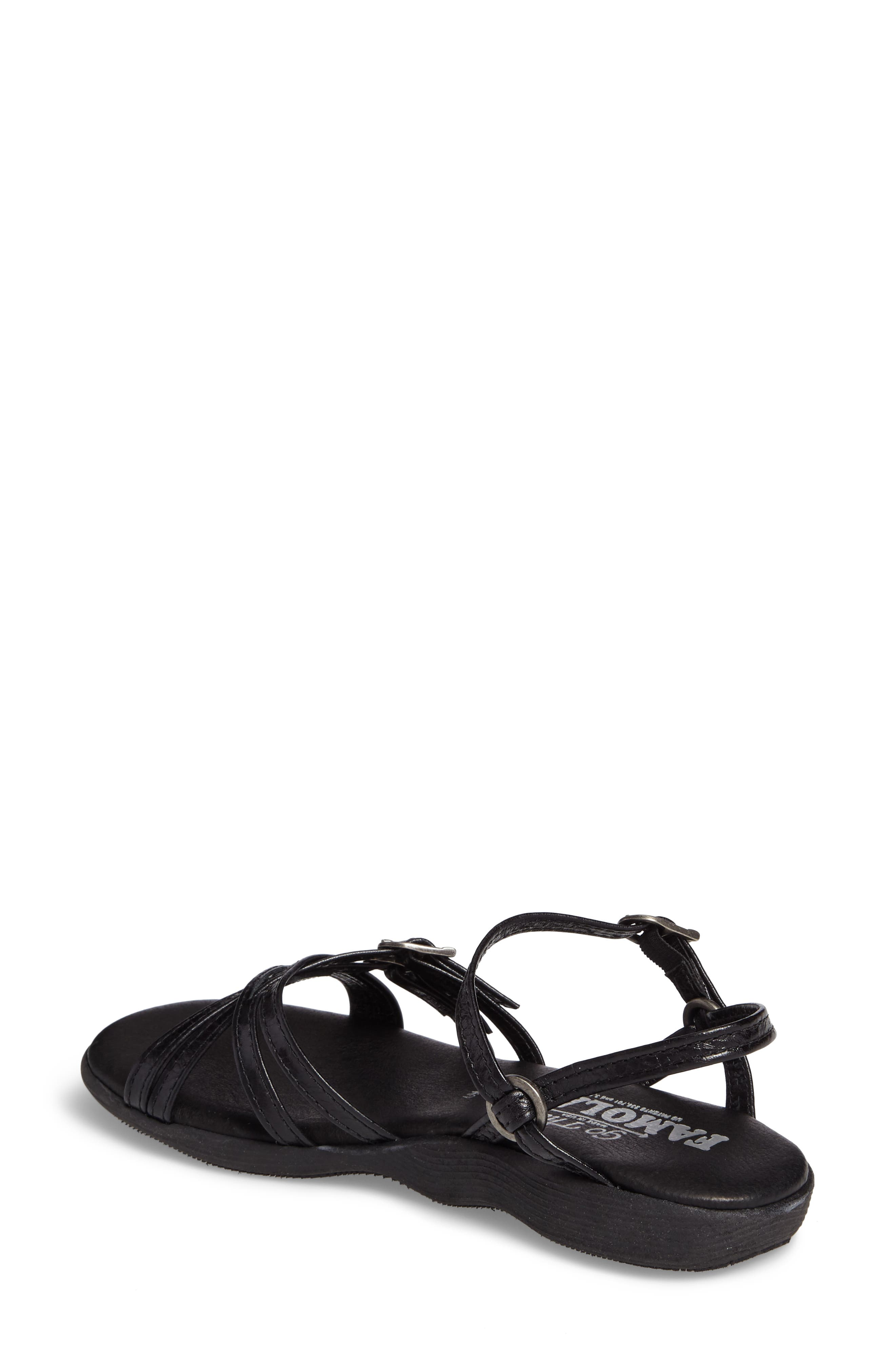 Strapsody Buckle Sandal,                             Alternate thumbnail 2, color,                             COAL LEATHER