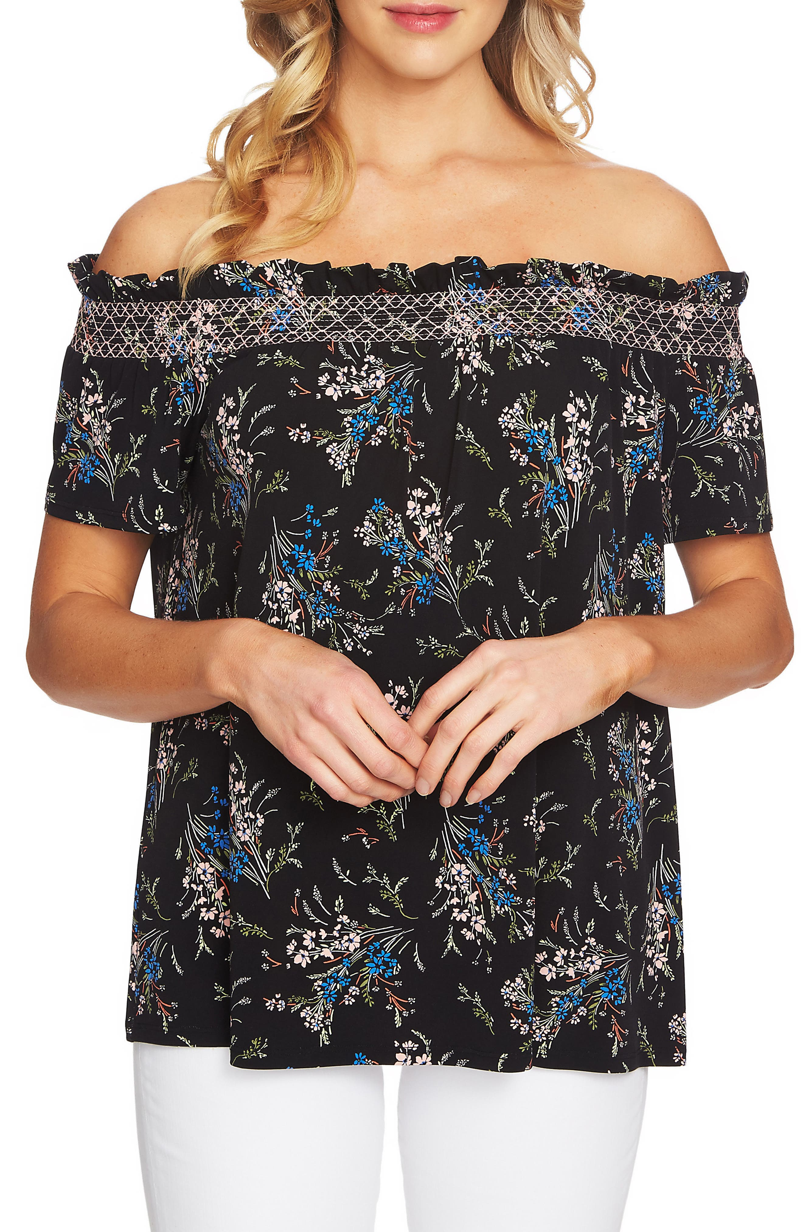 Off the Shoulder Dancing Top,                             Main thumbnail 1, color,                             006