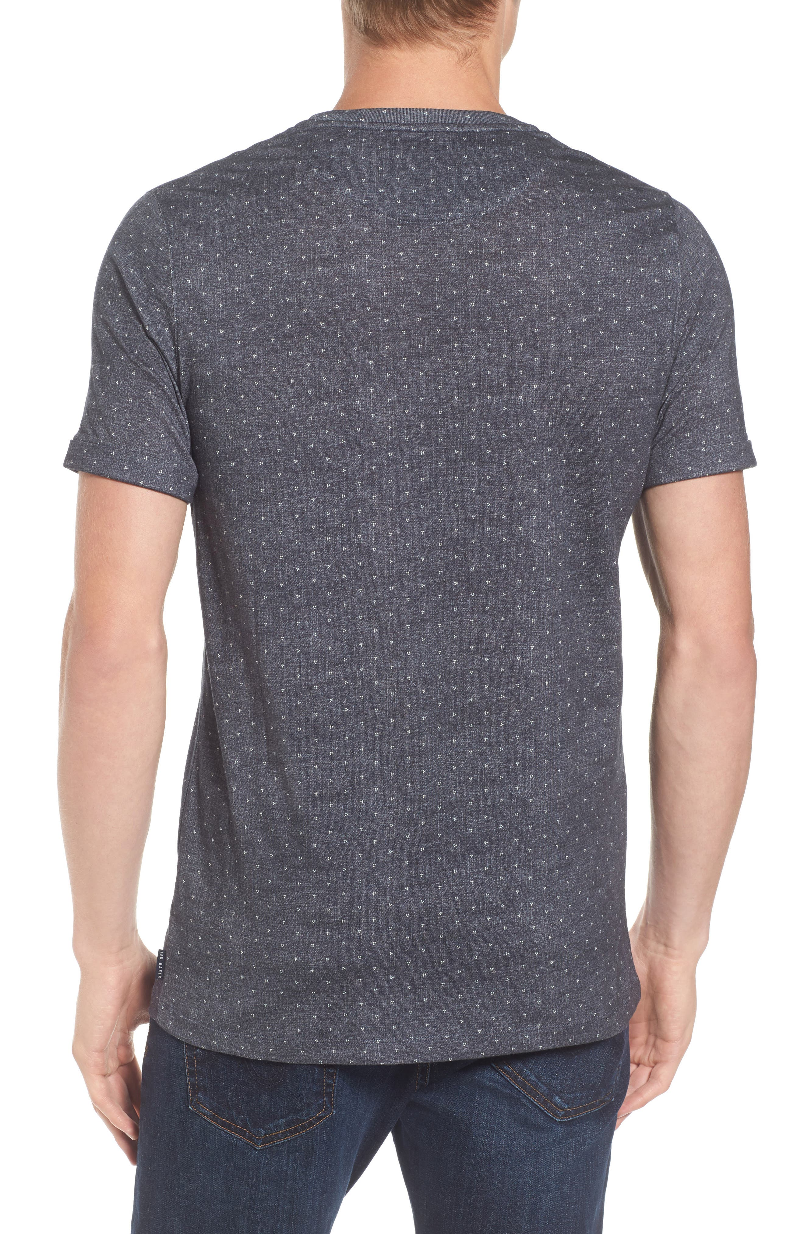 Giovani Modern Slim Fit Print T-Shirt,                             Alternate thumbnail 2, color,                             410