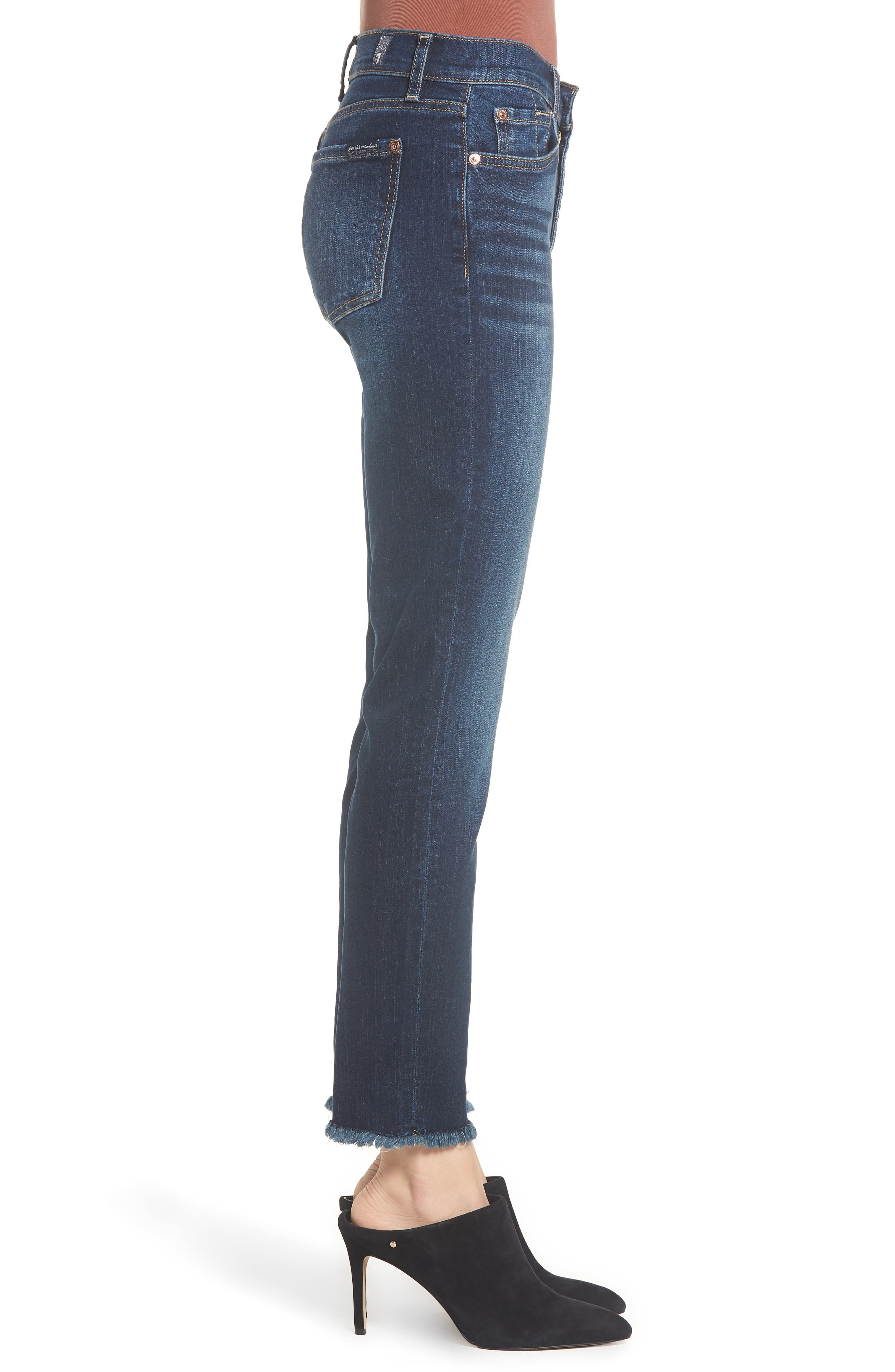 b(air) Roxanne Frayed Ankle Slim Jeans,                             Alternate thumbnail 3, color,                             AUTHENTIC FATE