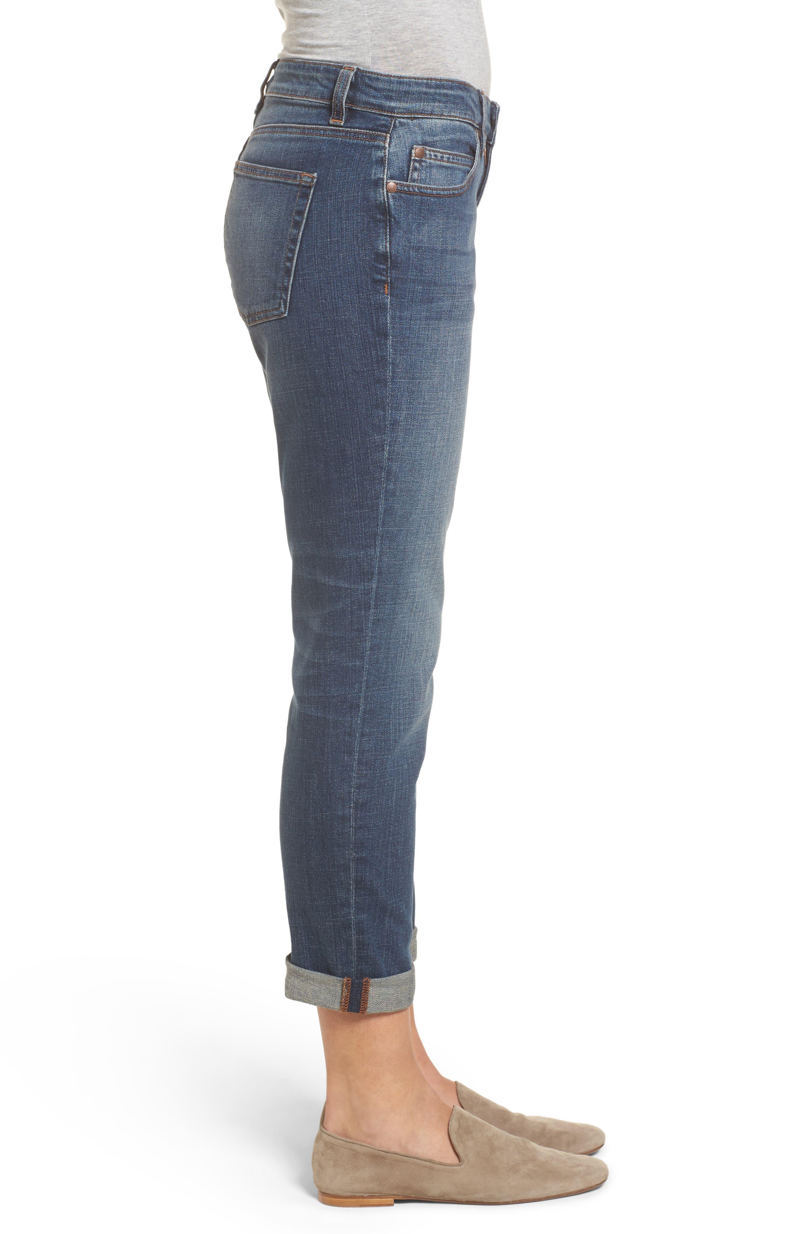 Organic Cotton Boyfriend Jeans,                             Alternate thumbnail 3, color,                             400