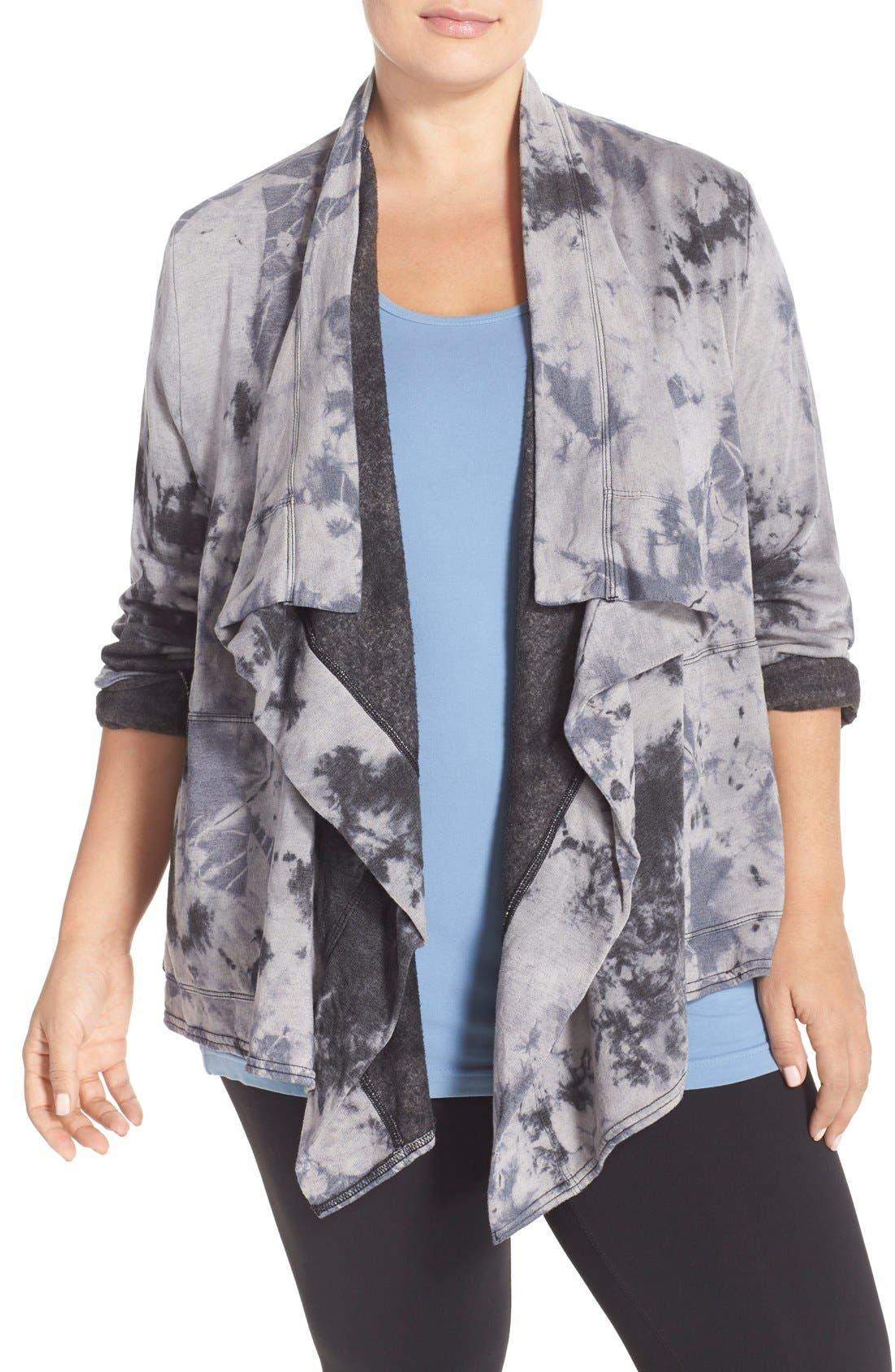 HARD TAIL Fleece Lined Wrap Cardigan, Main, color, 005