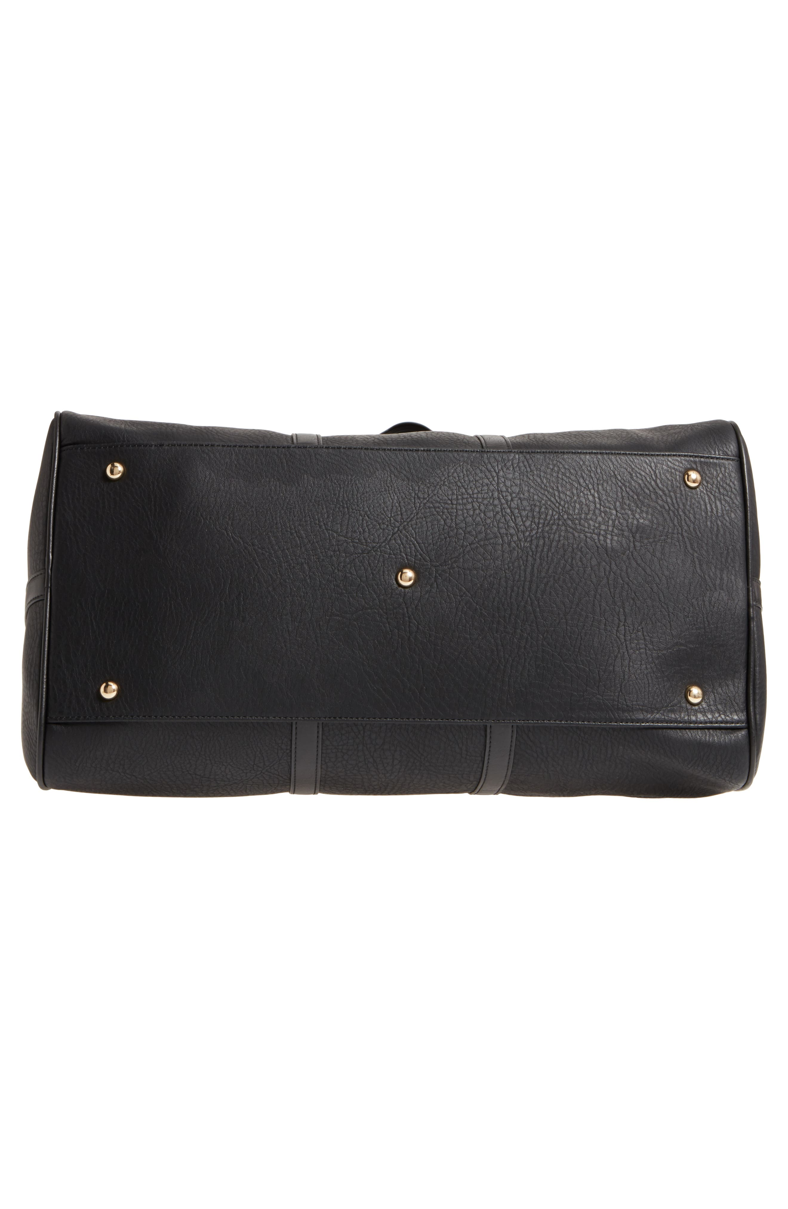 'Cassidy' Faux Leather Duffel Bag,                             Alternate thumbnail 6, color,                             002
