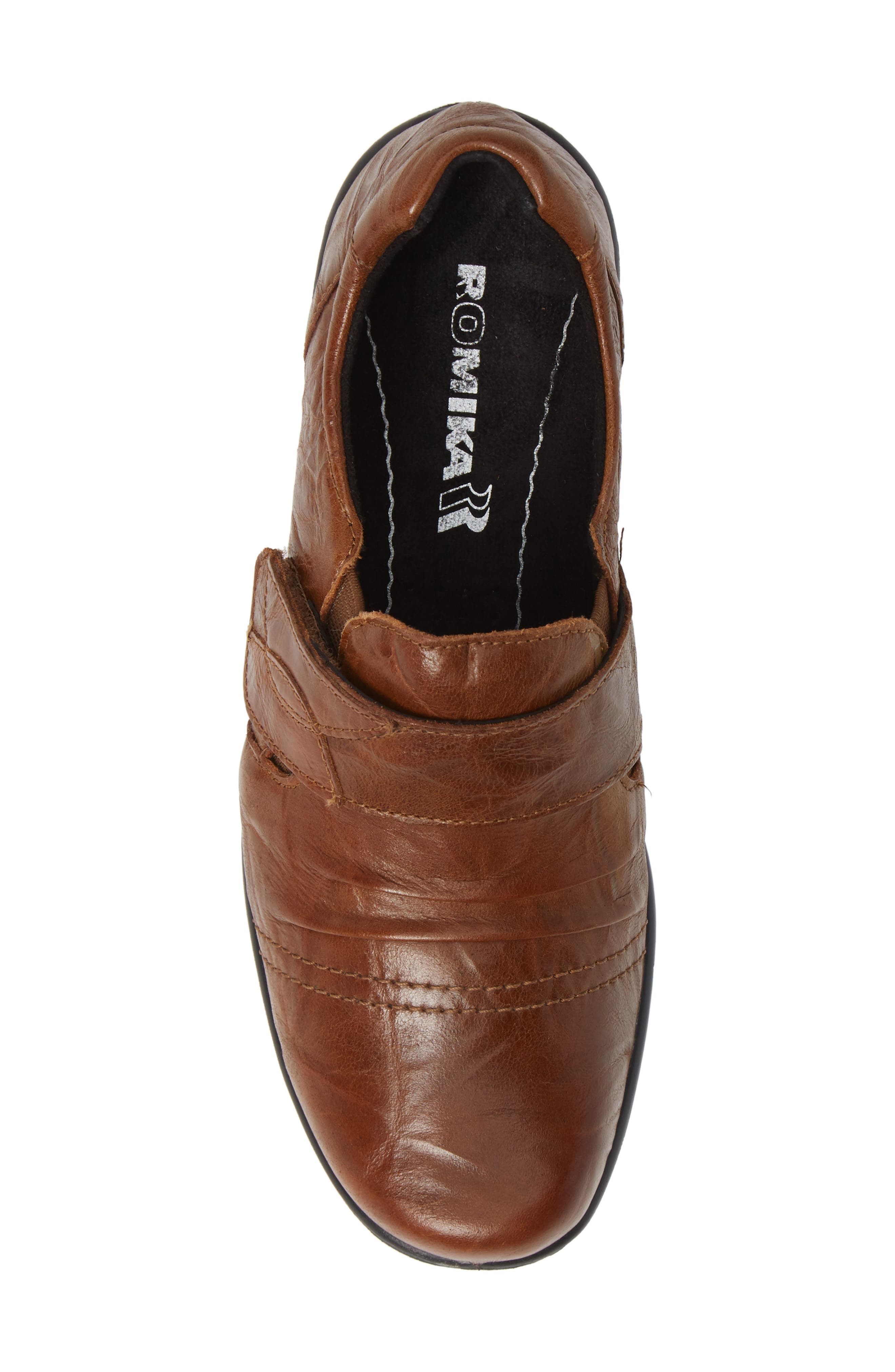 Cassie 43 Loafer,                             Alternate thumbnail 5, color,                             BROWN LEATHER