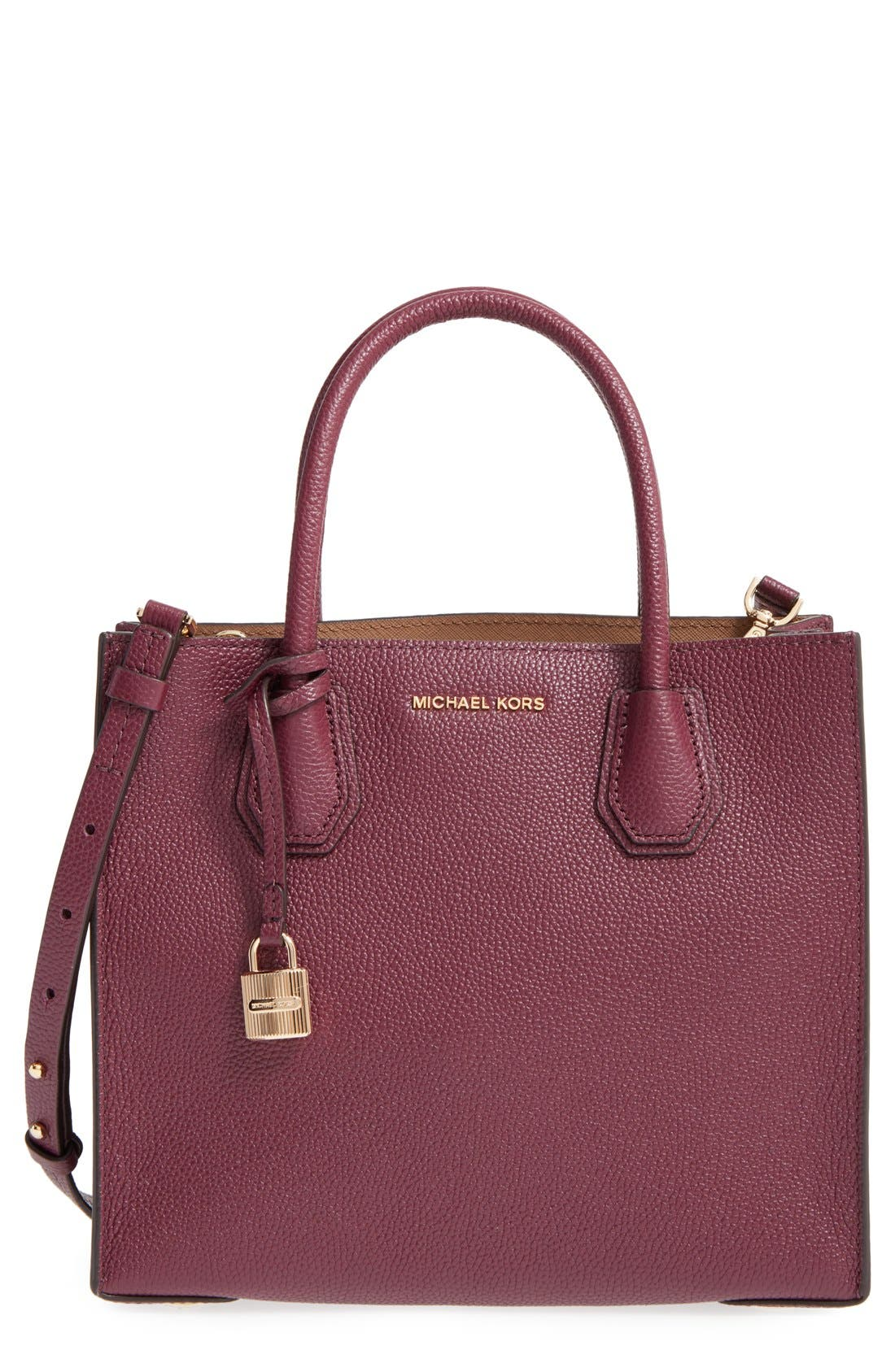 'Medium Mercer' Leather Tote,                             Main thumbnail 9, color,