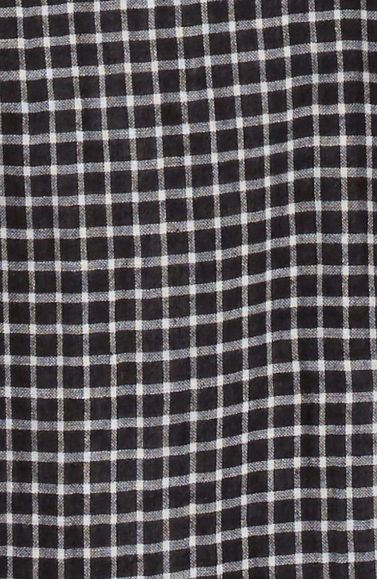 Check Pattern Woven Shirt,                             Alternate thumbnail 2, color,                             001