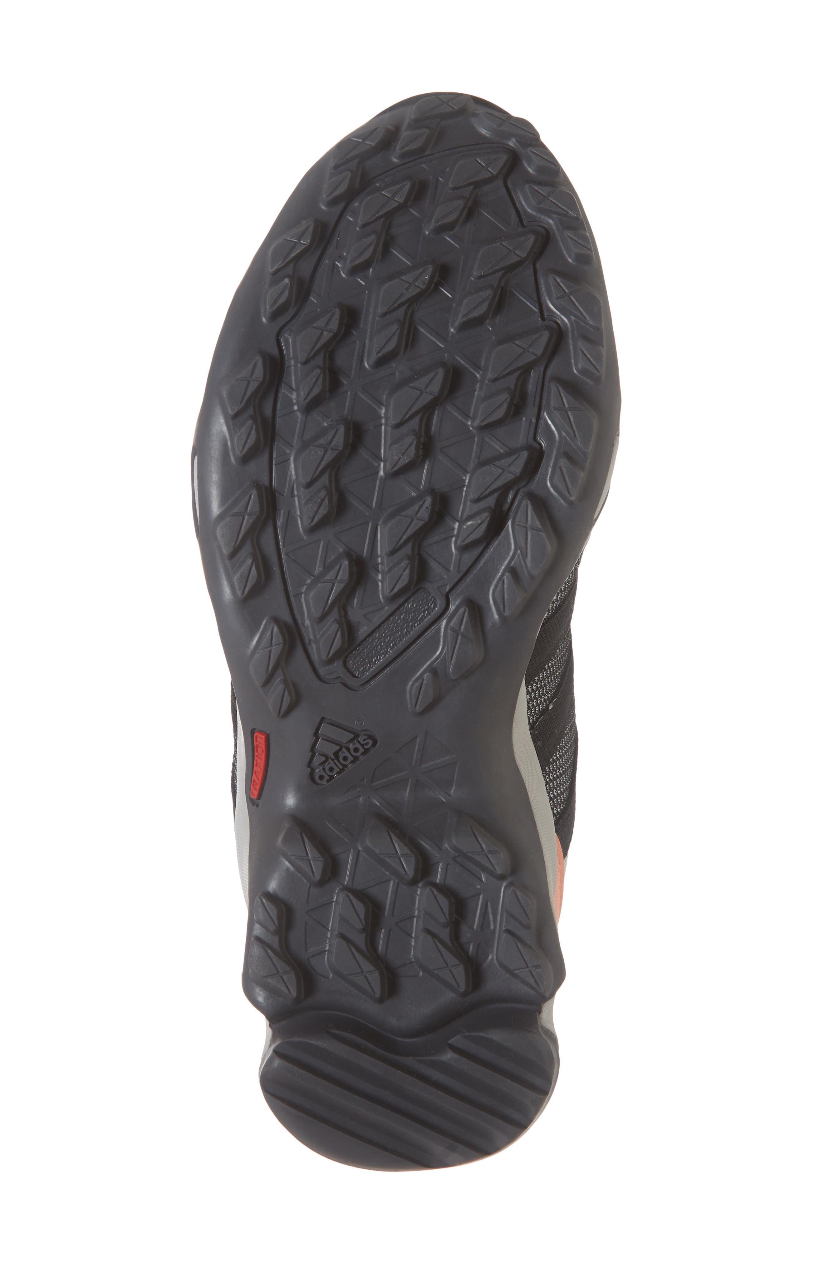 Terrex AX2 CLIMAPROOF<sup>®</sup> Hiking Shoe,                             Alternate thumbnail 6, color,                             GREY/ BLACK/ CHALK CORAL