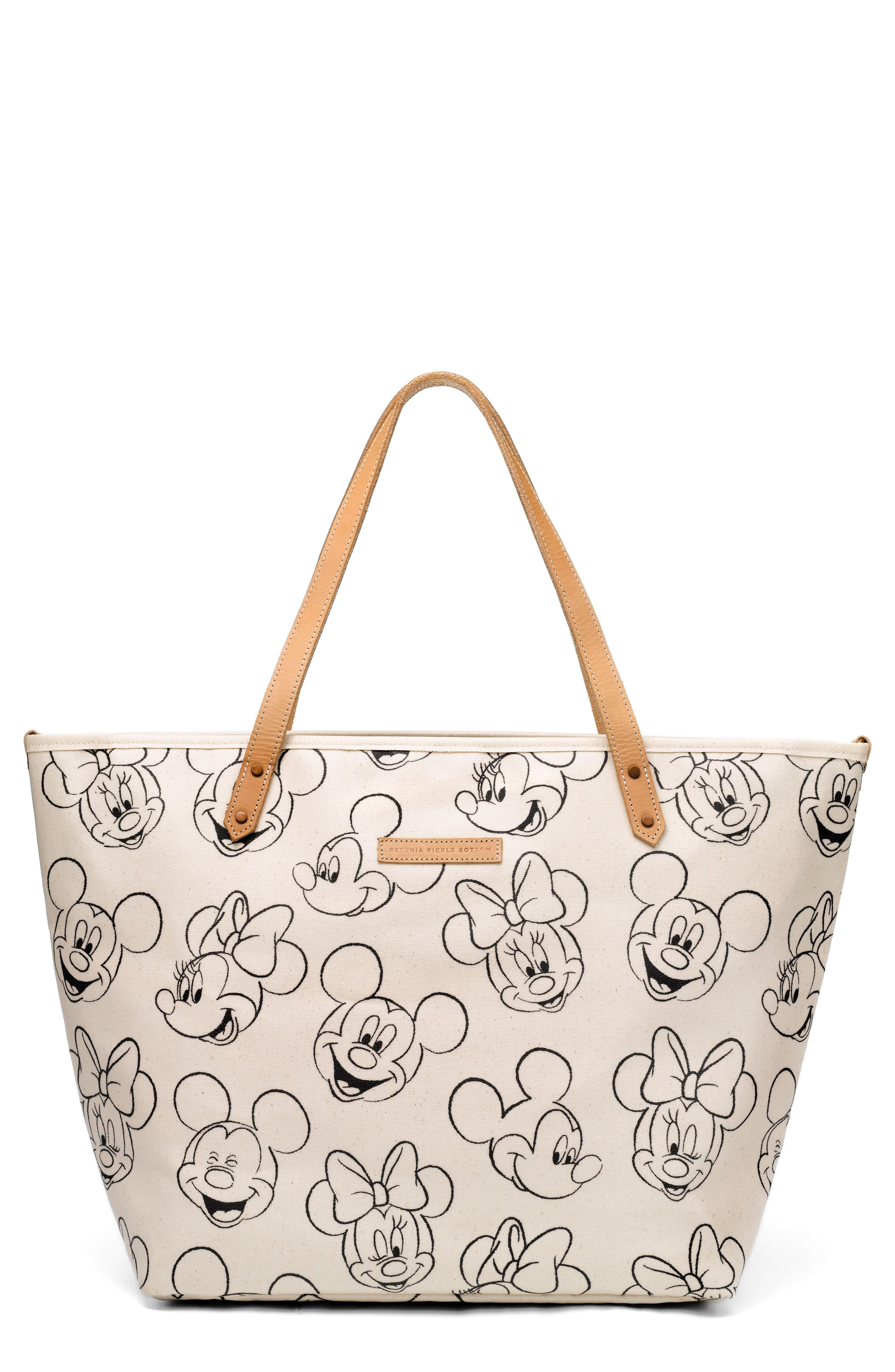 Downtown Disney<sup>®</sup> Mickey Mouse<sup>®</sup> Print Diaper Tote,                         Main,                         color, SKETCHBOOK