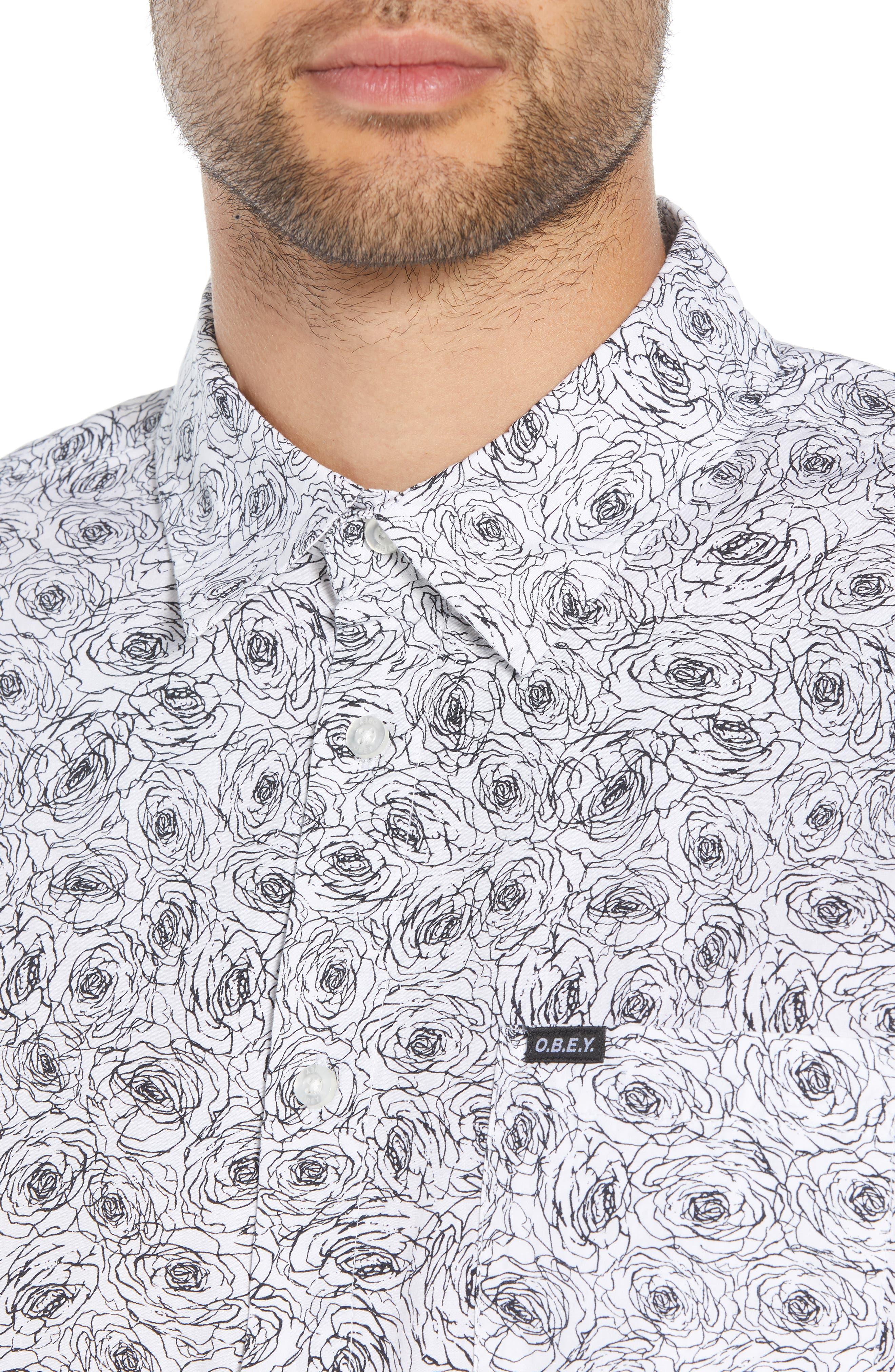 Rosie Print Woven Shirt,                             Alternate thumbnail 2, color,                             WHITE MULTI
