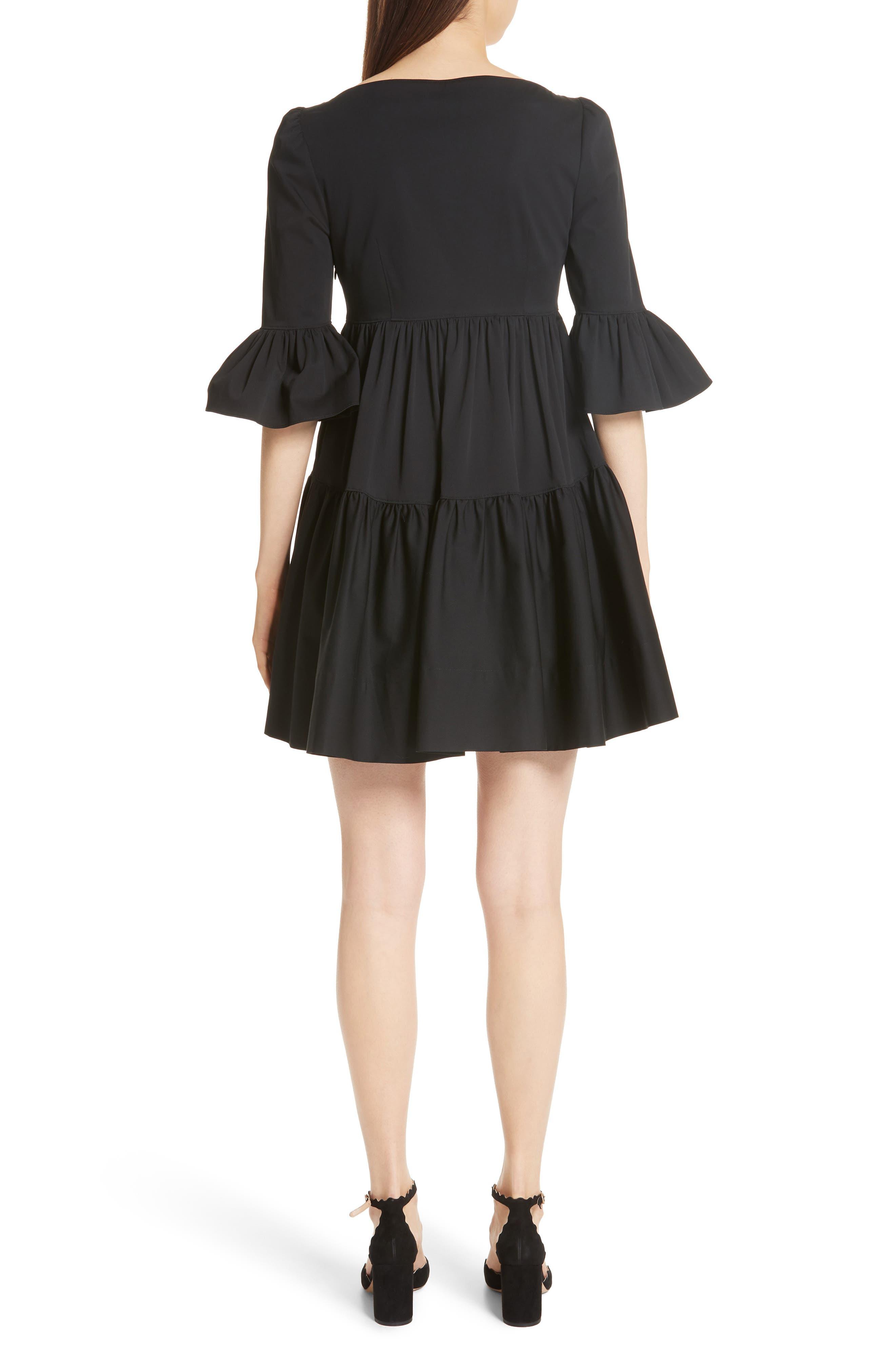 Anya Stretch Poplin Dress,                             Alternate thumbnail 2, color,                             001