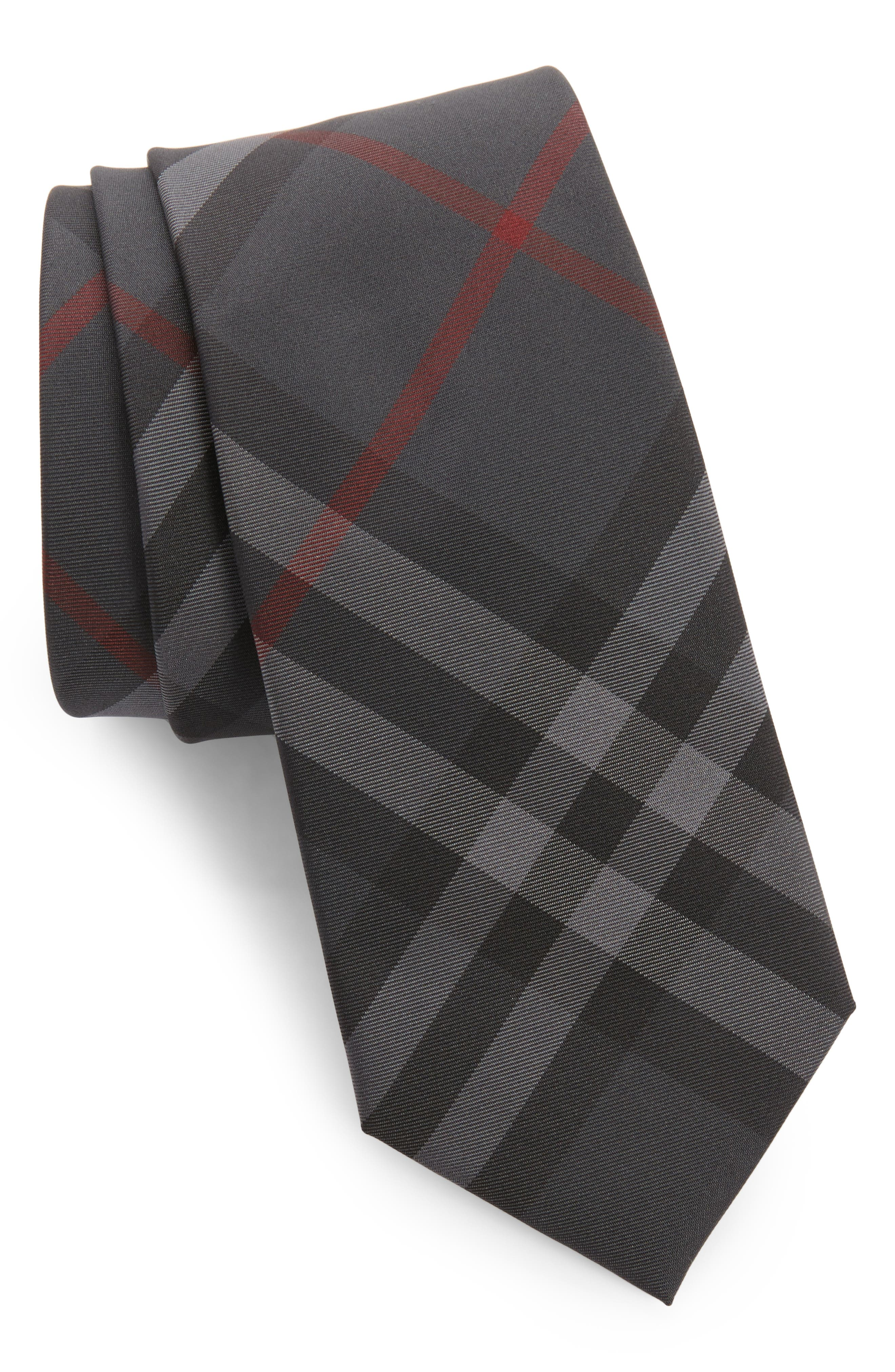 Manston Check Silk Tie,                         Main,                         color, 026
