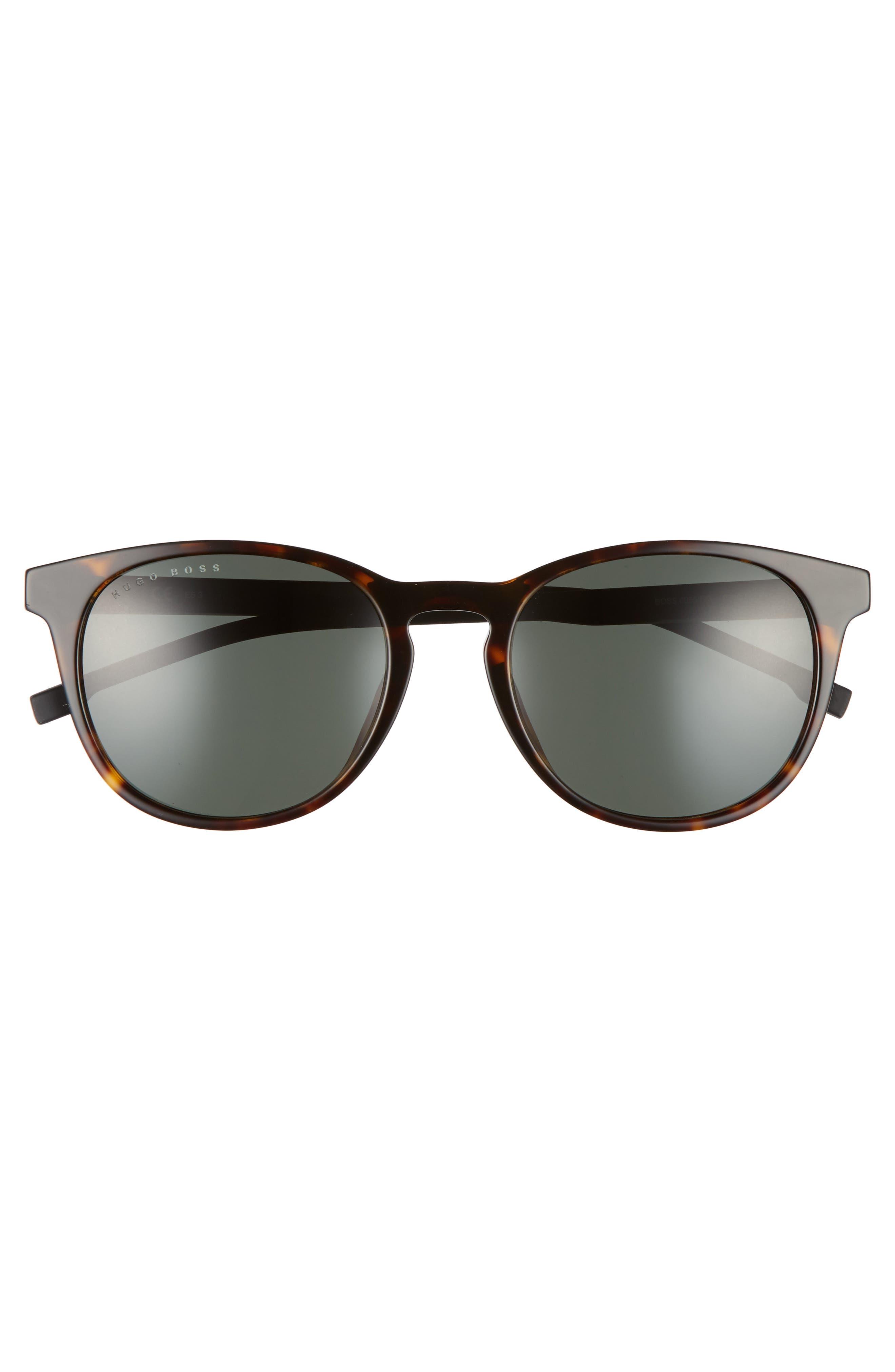 54mm Sunglasses,                             Alternate thumbnail 2, color,                             DARK HAVANA/ GREEN