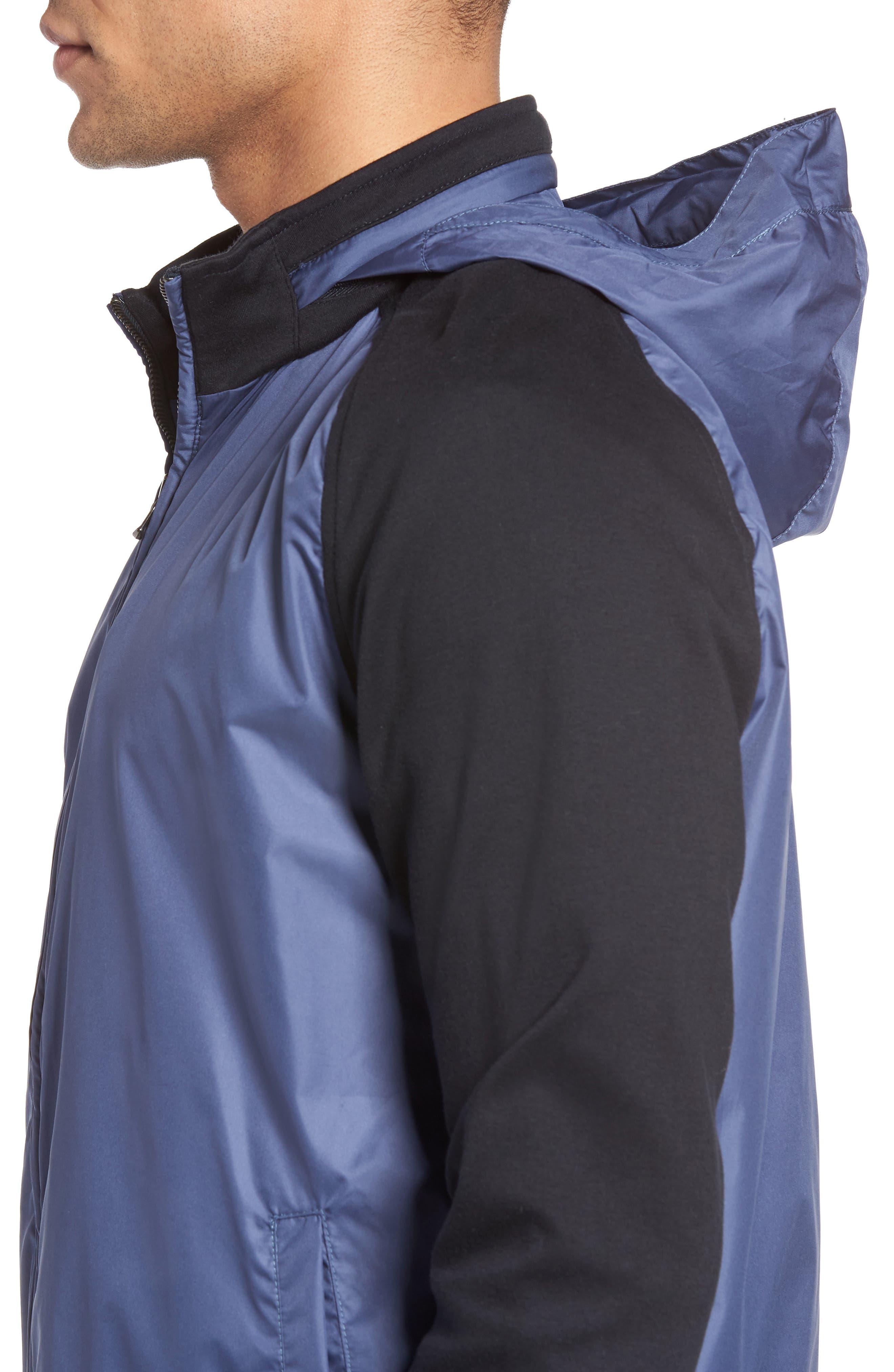 Syconium Mixed Media Zip Front Jacket,                             Alternate thumbnail 4, color,                             400