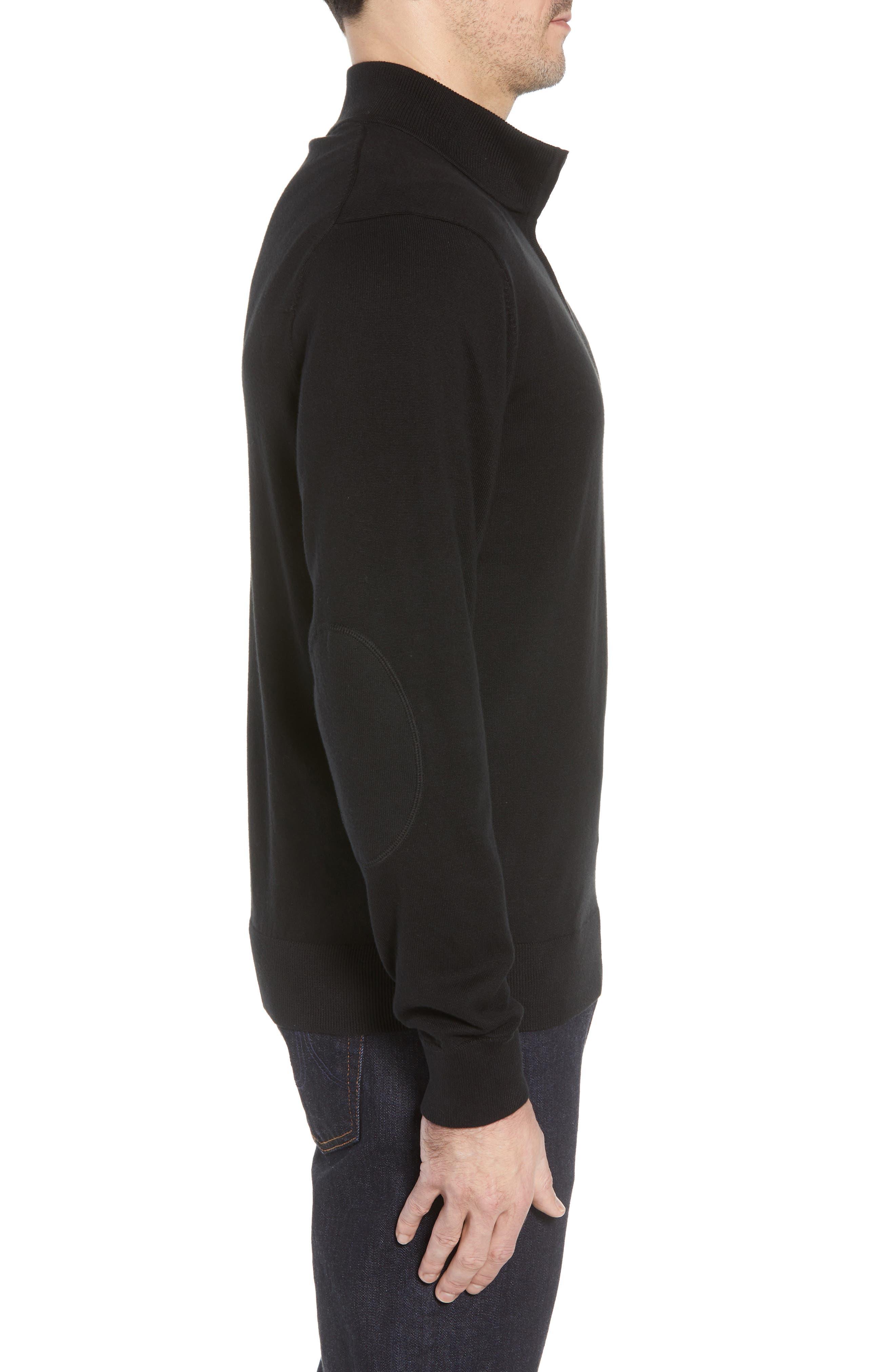 Philadelphia Eagles - Lakemont Regular Fit Quarter Zip Sweater,                             Alternate thumbnail 3, color,                             BLACK