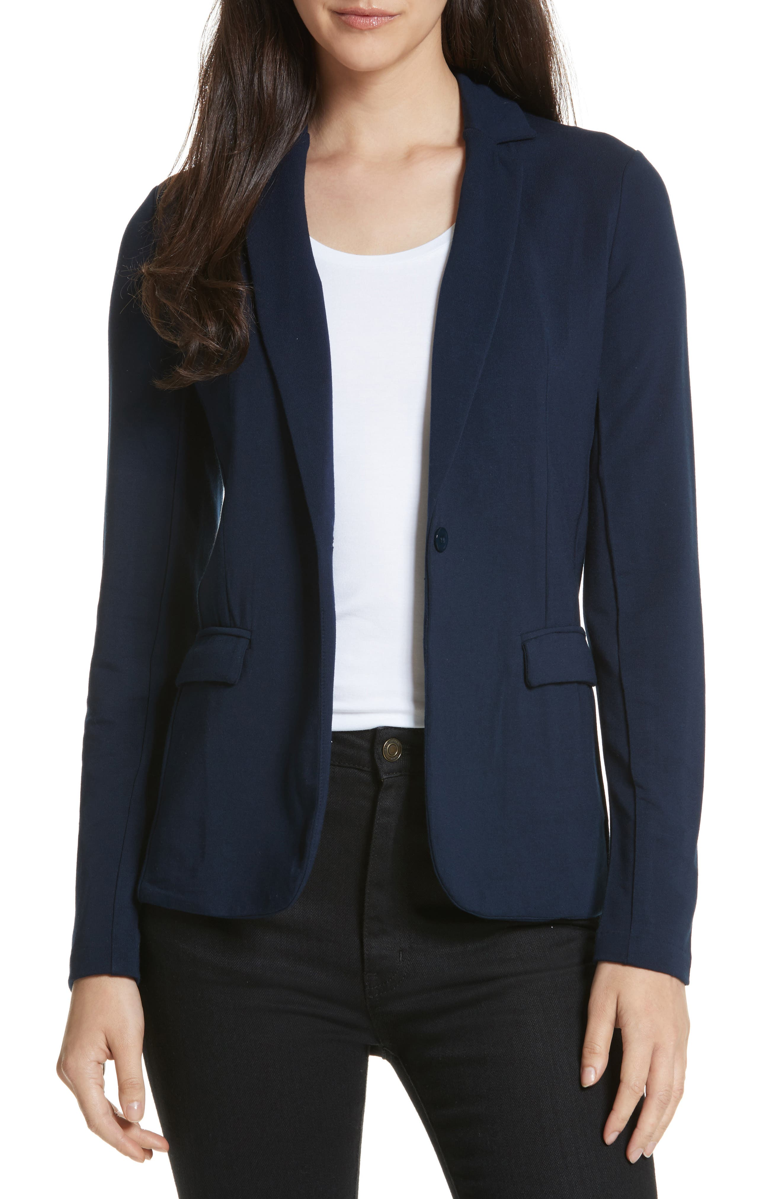 French Terry Blazer,                             Main thumbnail 2, color,