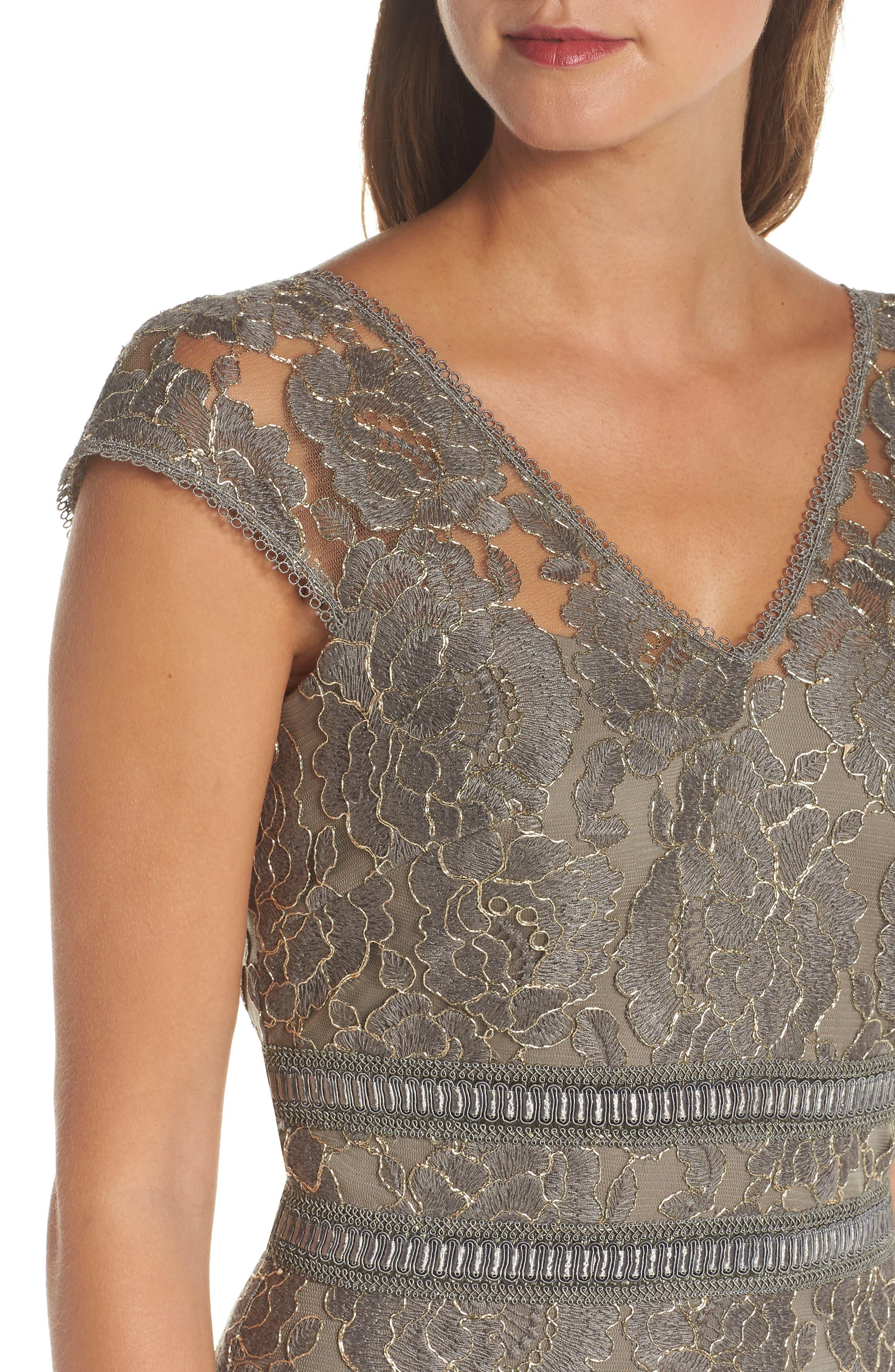 Lace Sheath Dress,                             Alternate thumbnail 4, color,                             020