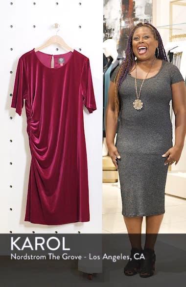 Velvet Side Ruche Body-Con Dress, sales video thumbnail