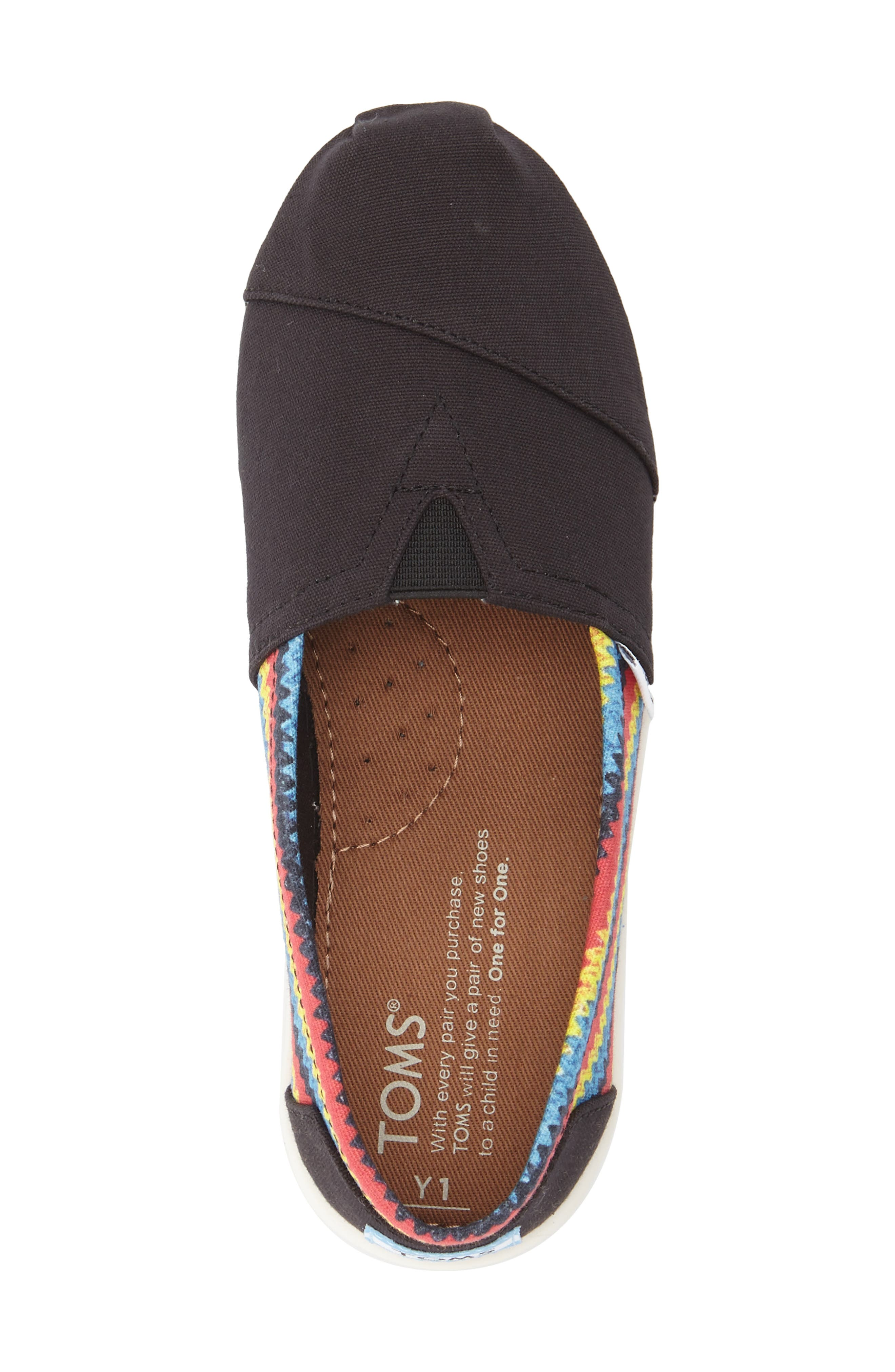 'Classic - Raffia Print' Canvas Slip-On,                             Alternate thumbnail 2, color,                             BLACK
