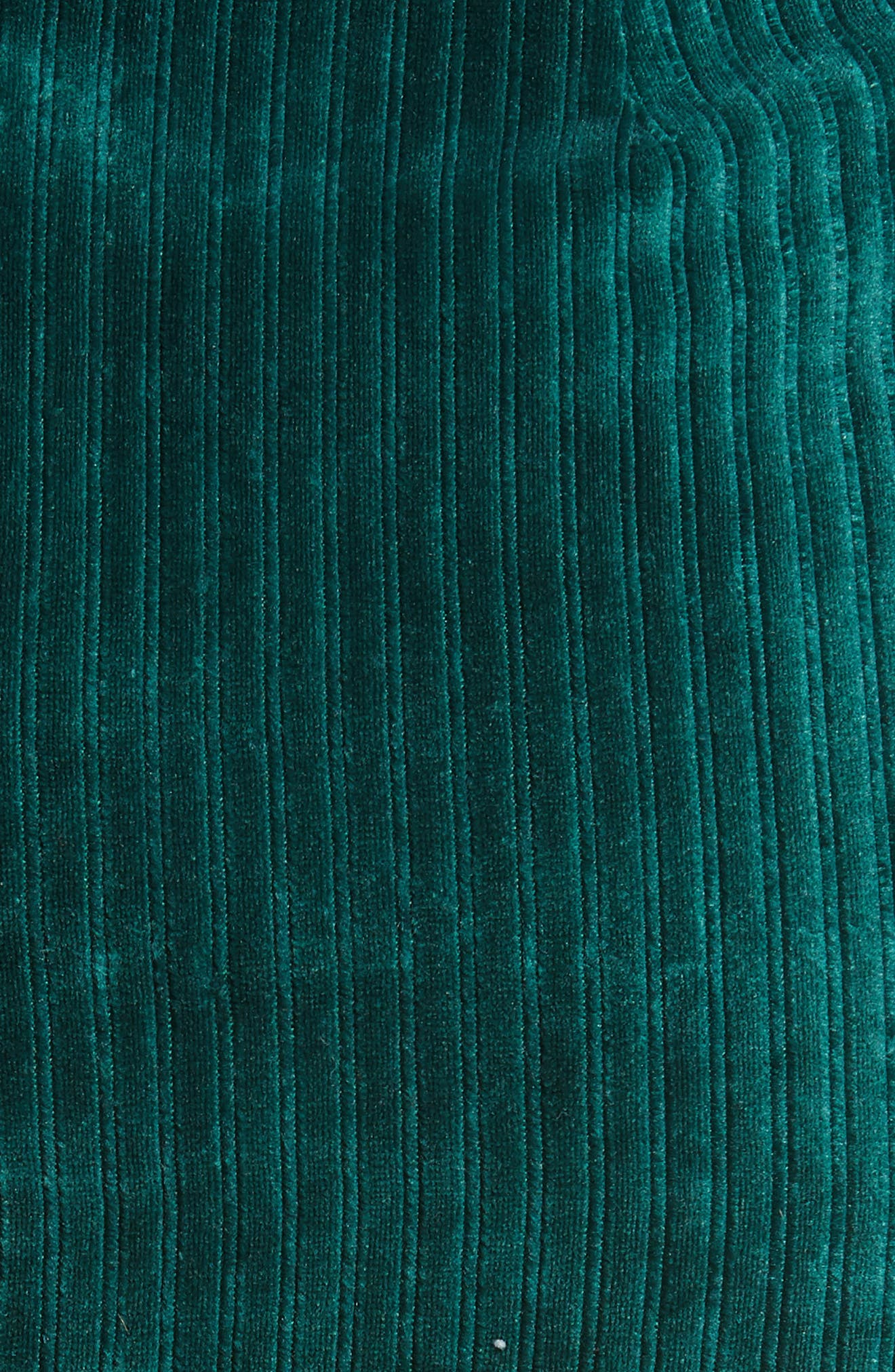 Velour Tie Waist Skirt,                             Alternate thumbnail 5, color,                             PINE