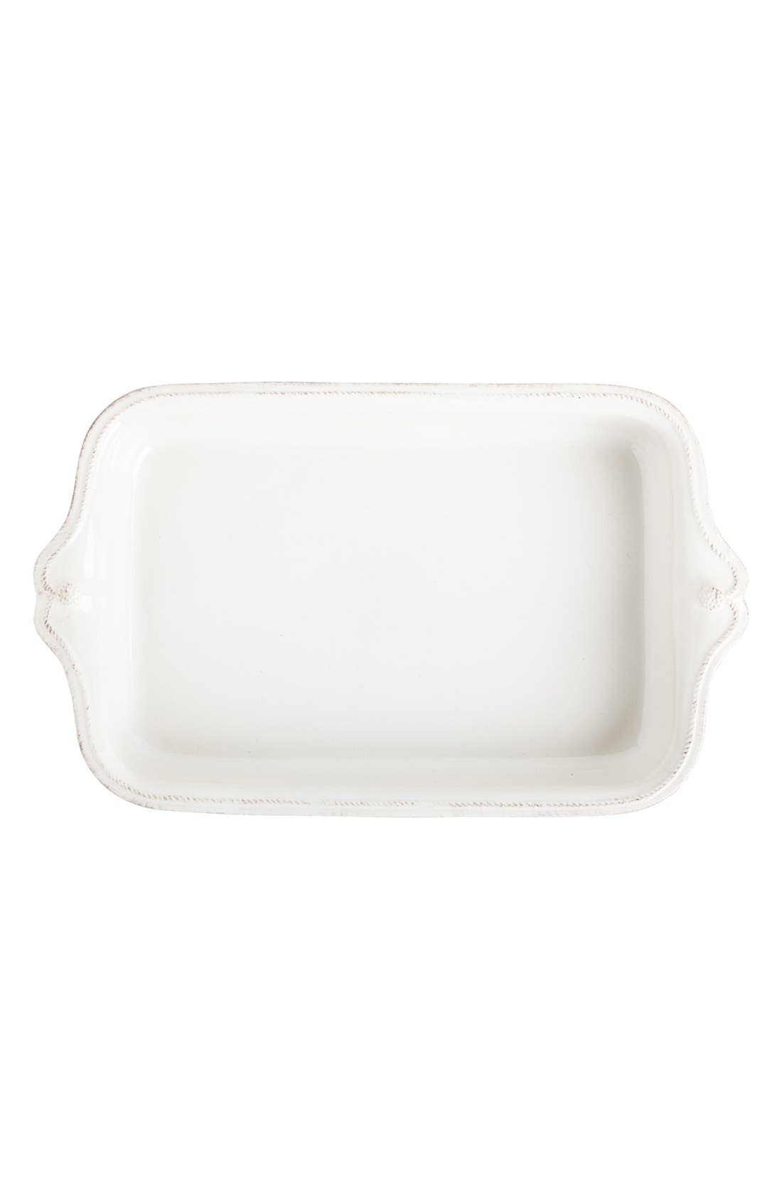 'Berry and Thread' Rectangular Baking Dish,                             Main thumbnail 1, color,                             WHITEWASH
