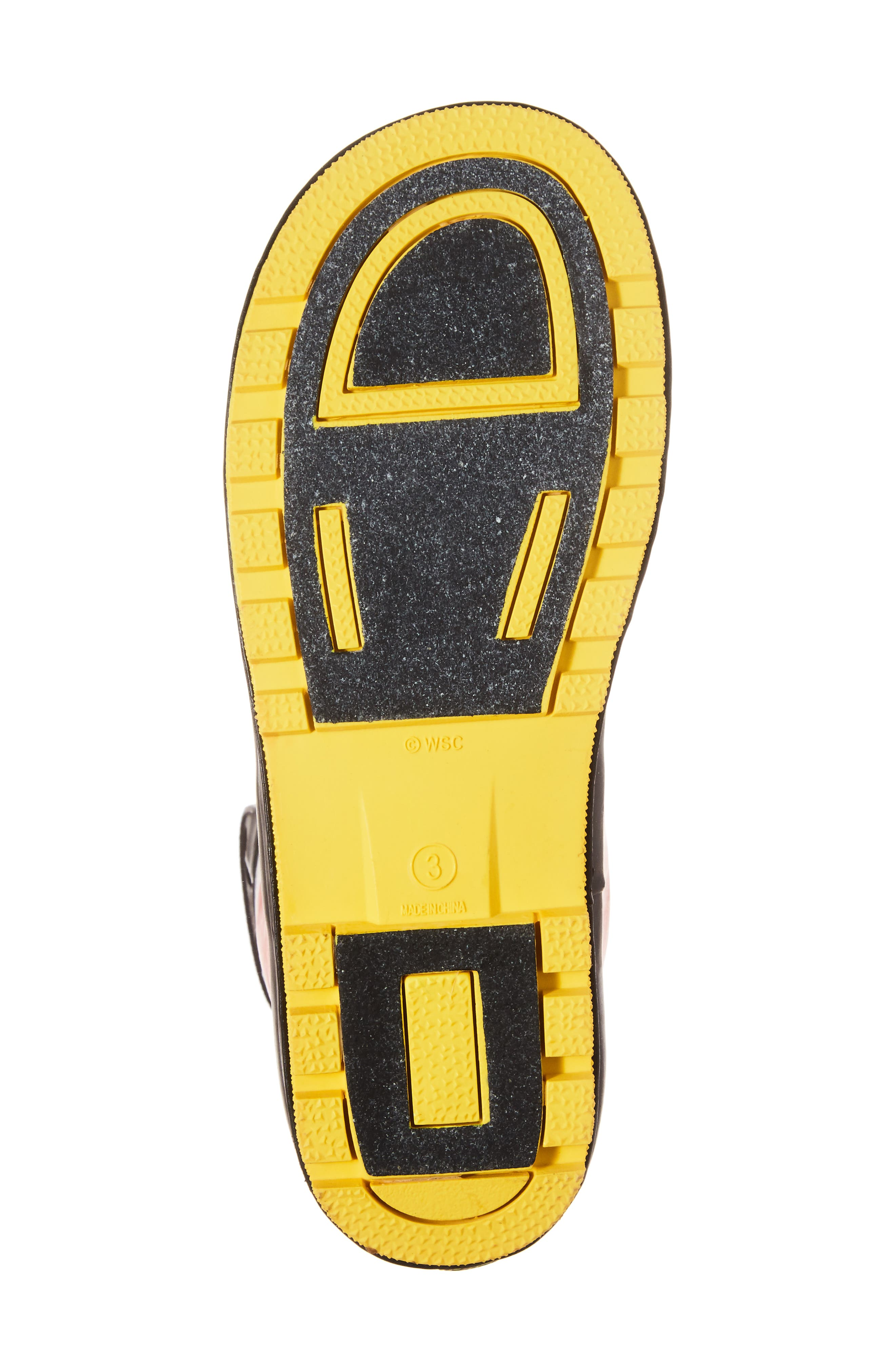 Mickey Mouse Rain Boot,                             Alternate thumbnail 6, color,                             RED