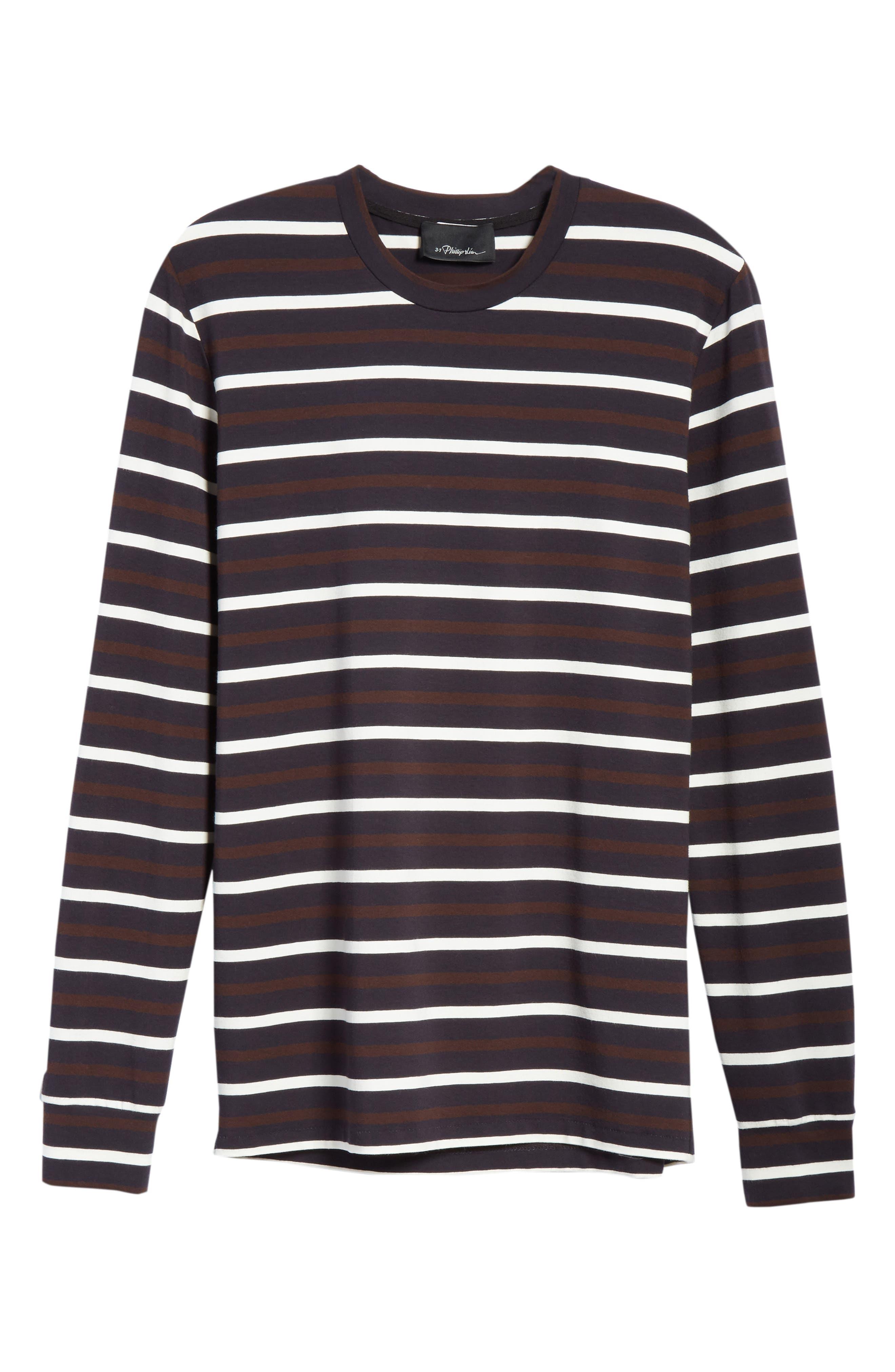 Technical Stripe Long Sleeve T-Shirt,                             Alternate thumbnail 6, color,                             200