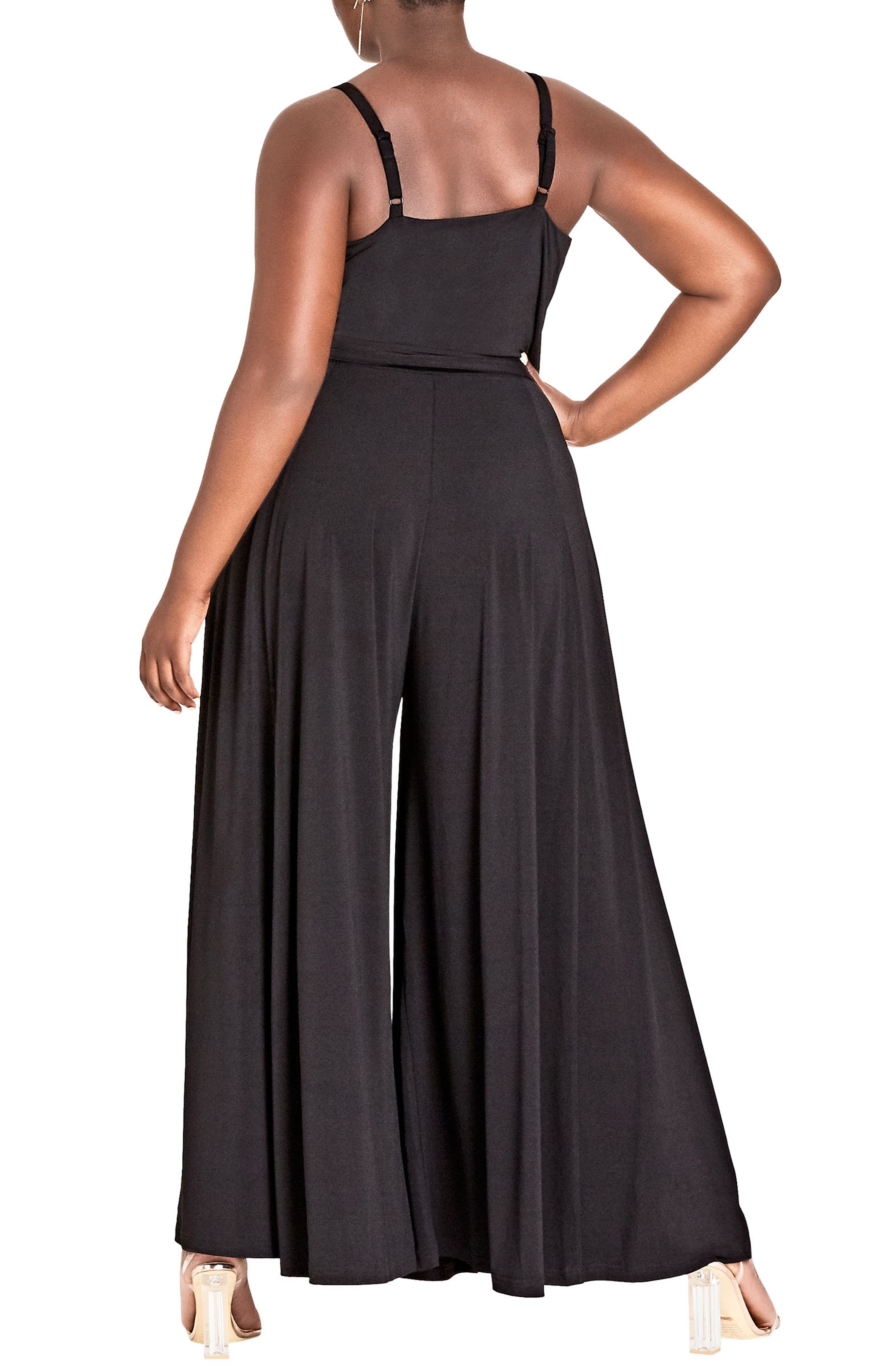Miss Slinky Jumpsuit,                             Alternate thumbnail 2, color,                             BLACK