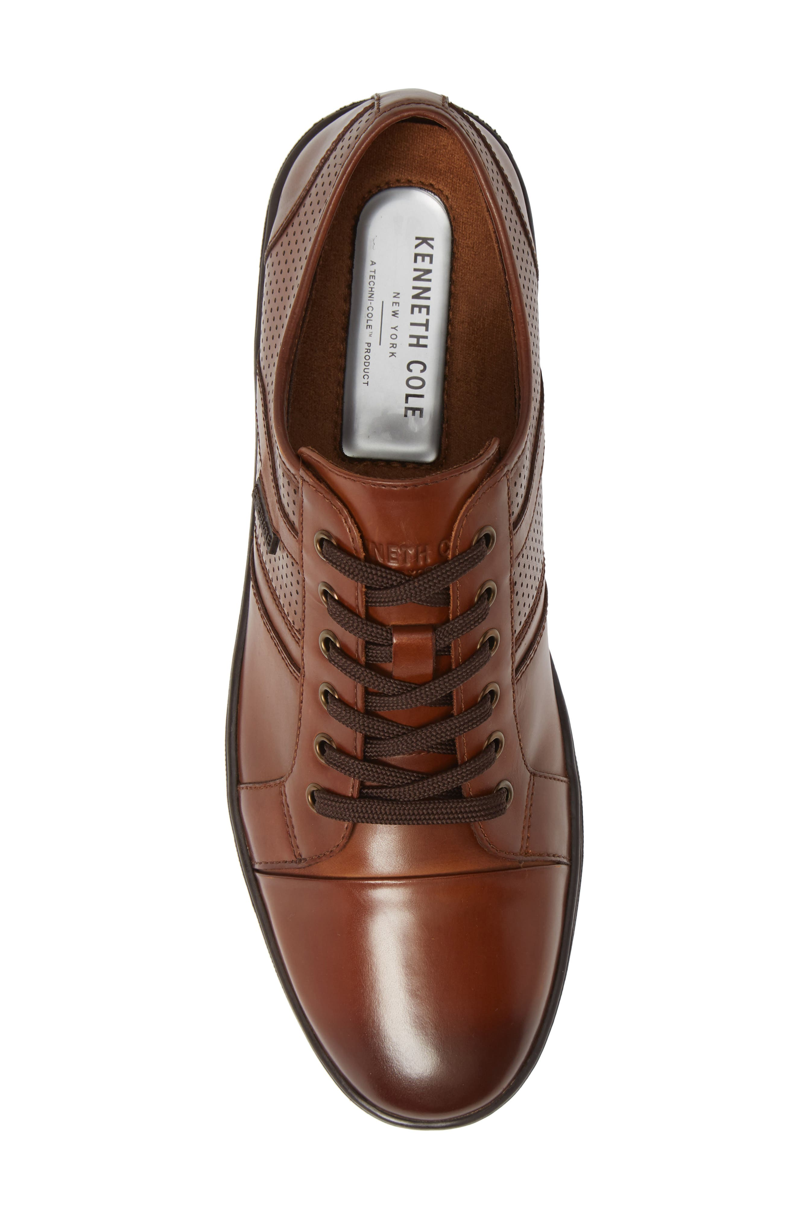 Initial Step Sneaker,                             Alternate thumbnail 5, color,                             COGNAC LEATHER