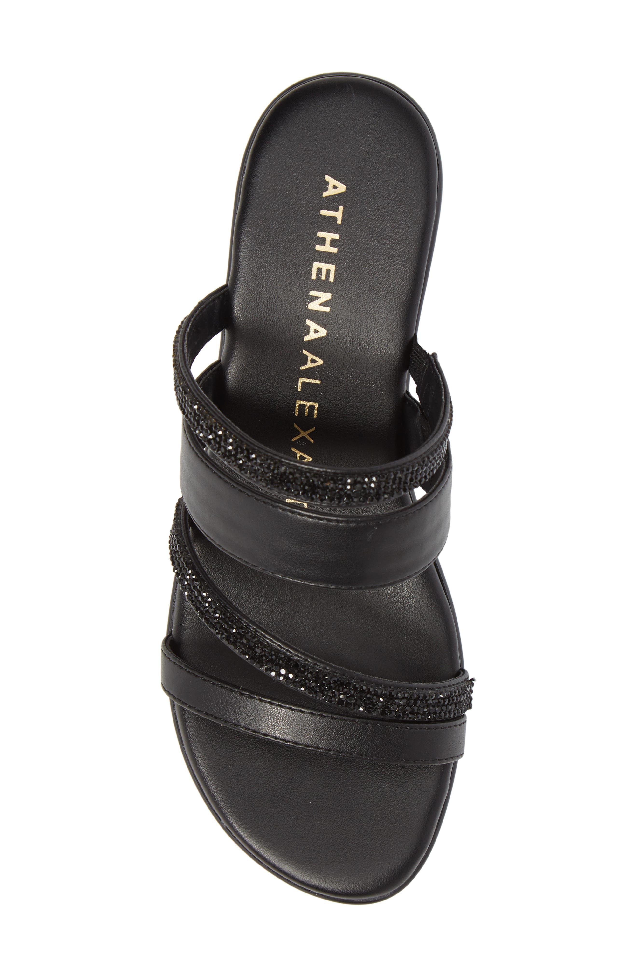 Kozima Embellished Sandal,                             Alternate thumbnail 5, color,                             BLACK FABRIC