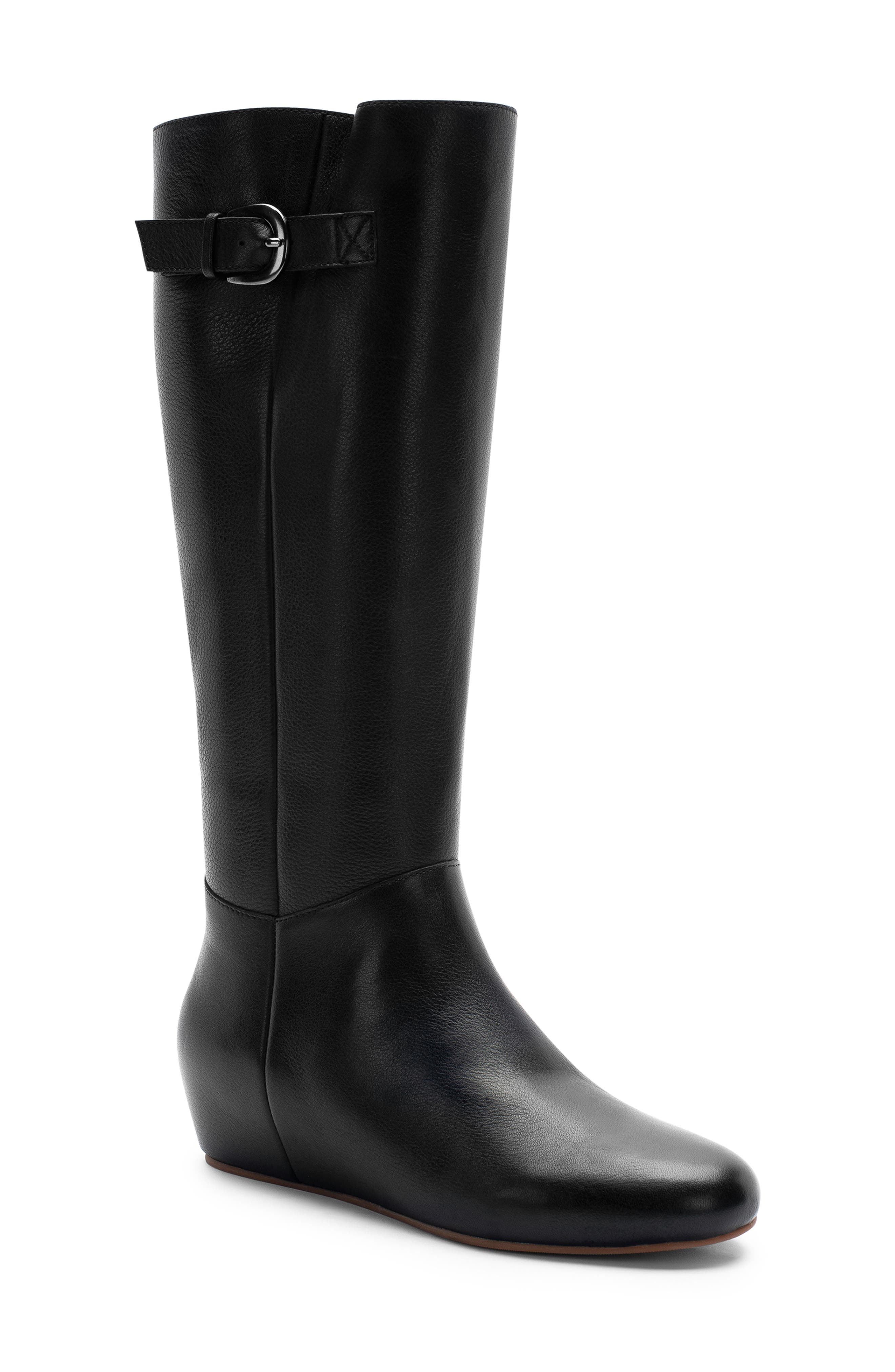 Monica Waterproof Boot,                             Main thumbnail 1, color,                             BLACK LEATHER