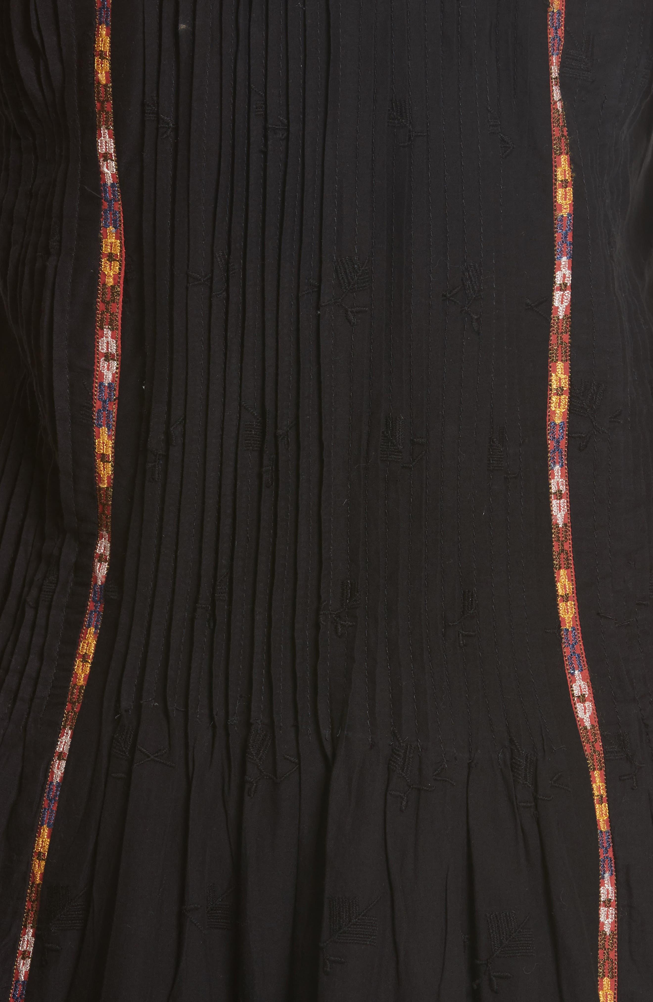 Horlane Embroidered Slipdress,                             Alternate thumbnail 5, color,                             002