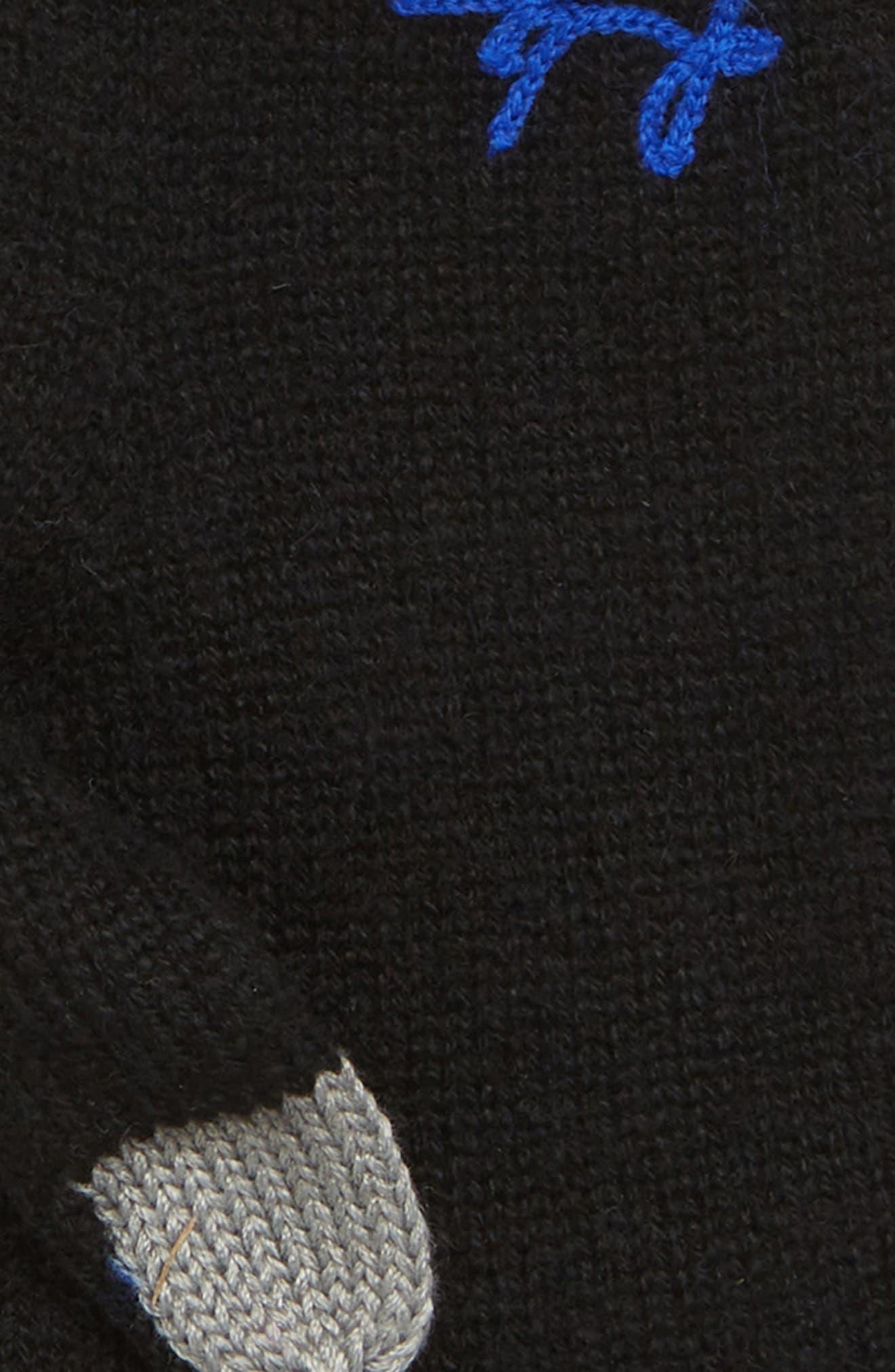 Yorke Cashmere Gloves,                             Alternate thumbnail 3, color,                             BLACK